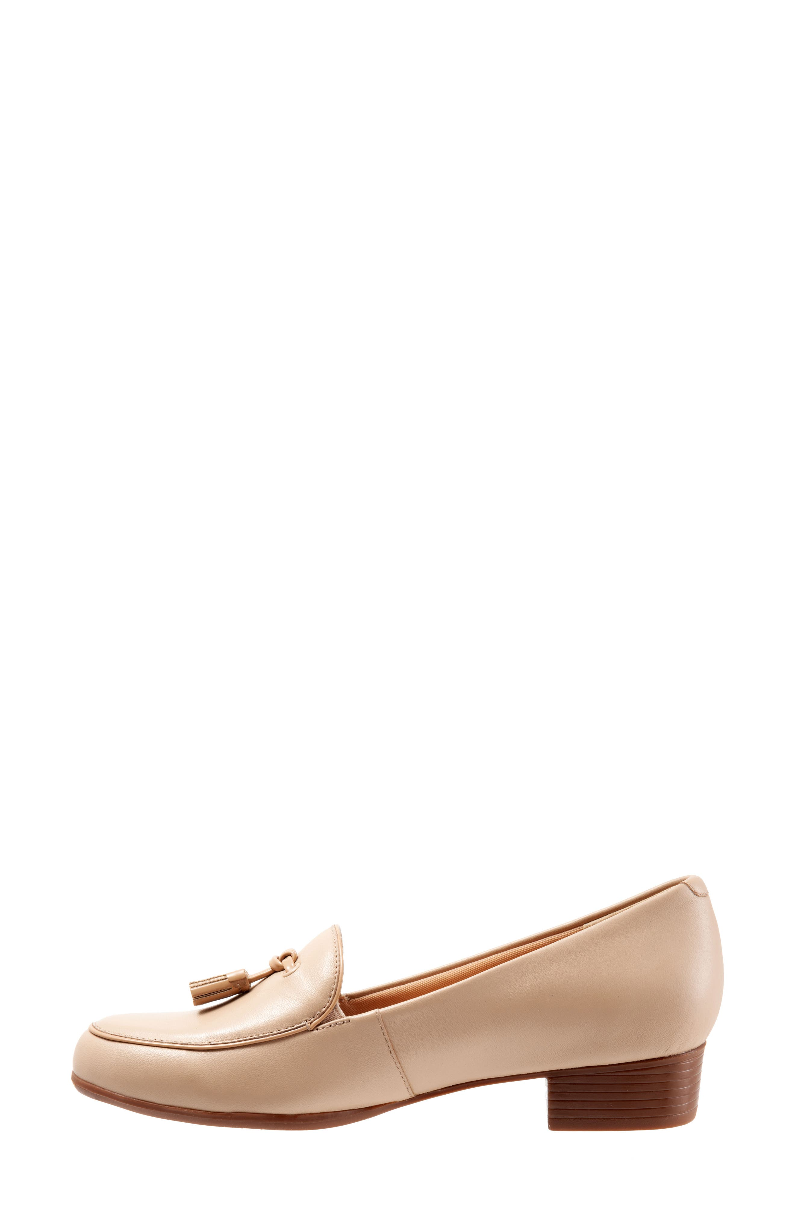 TROTTERS, Mary Tassel Loafer, Alternate thumbnail 8, color, NUDE LEATHER