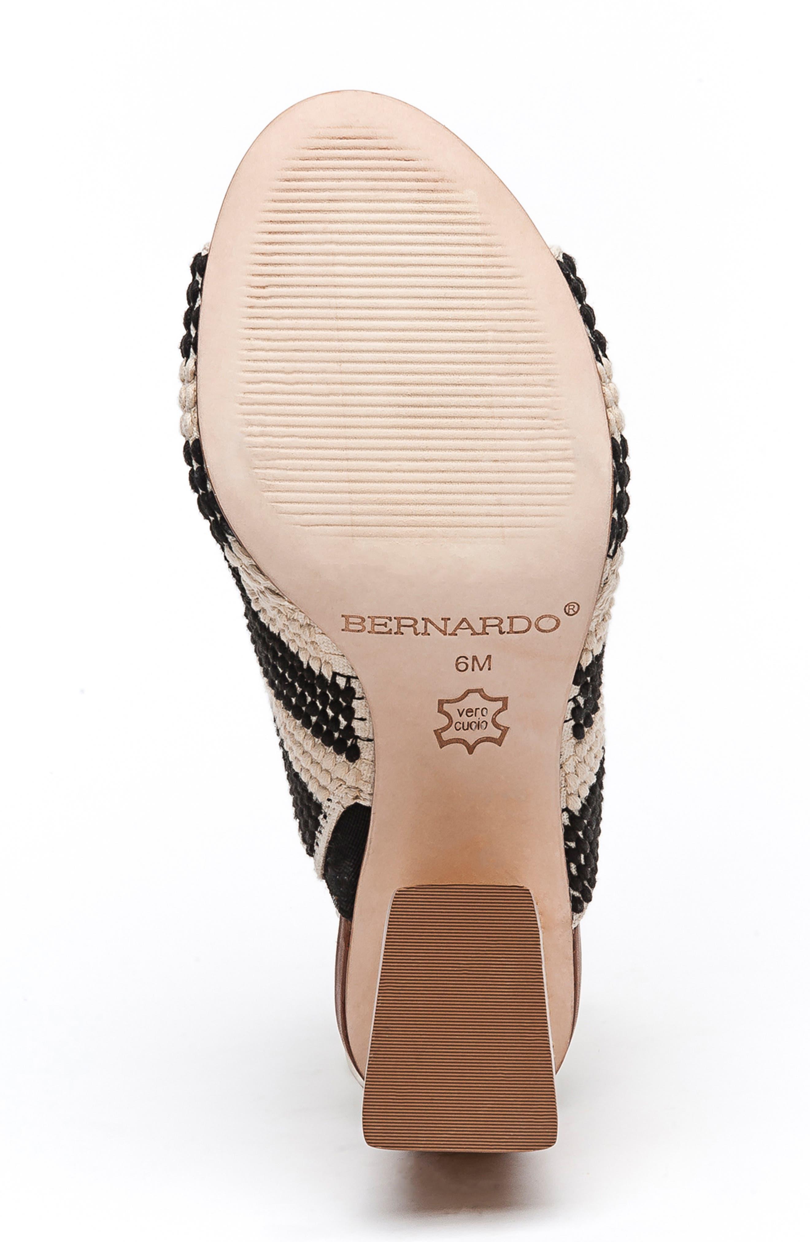 BERNARDO, Noelle Slide Sandal, Alternate thumbnail 6, color, BLACK/ CREAM CROCHET FABRIC