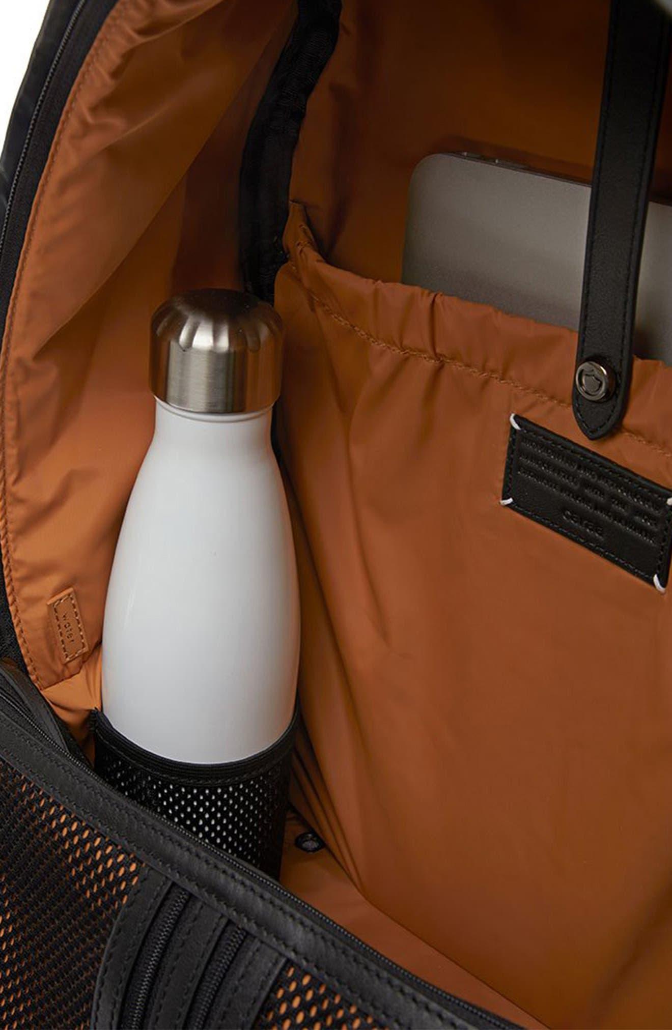 CARAA, Stratus Waterproof Backpack, Alternate thumbnail 9, color, BLACK