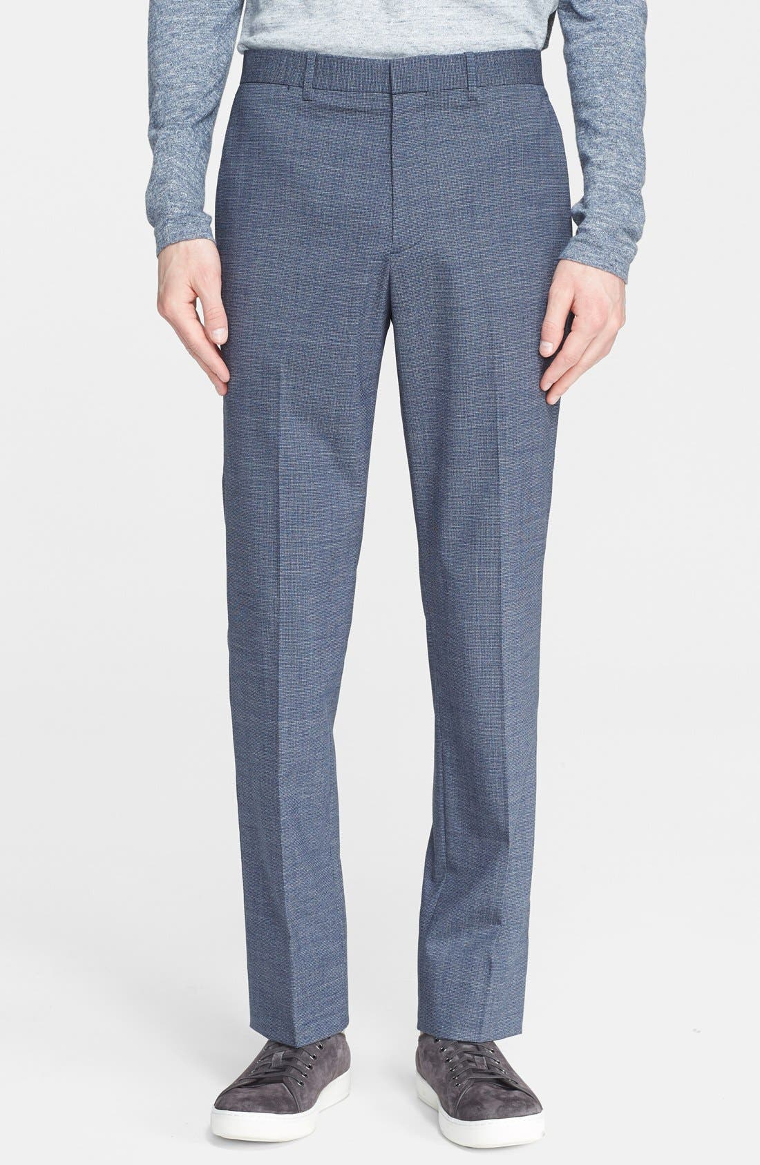 THEORY, 'Jake' Stretch Wool Trousers, Main thumbnail 1, color, 462