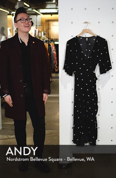 Orna High/Low Wrap Dress, sales video thumbnail