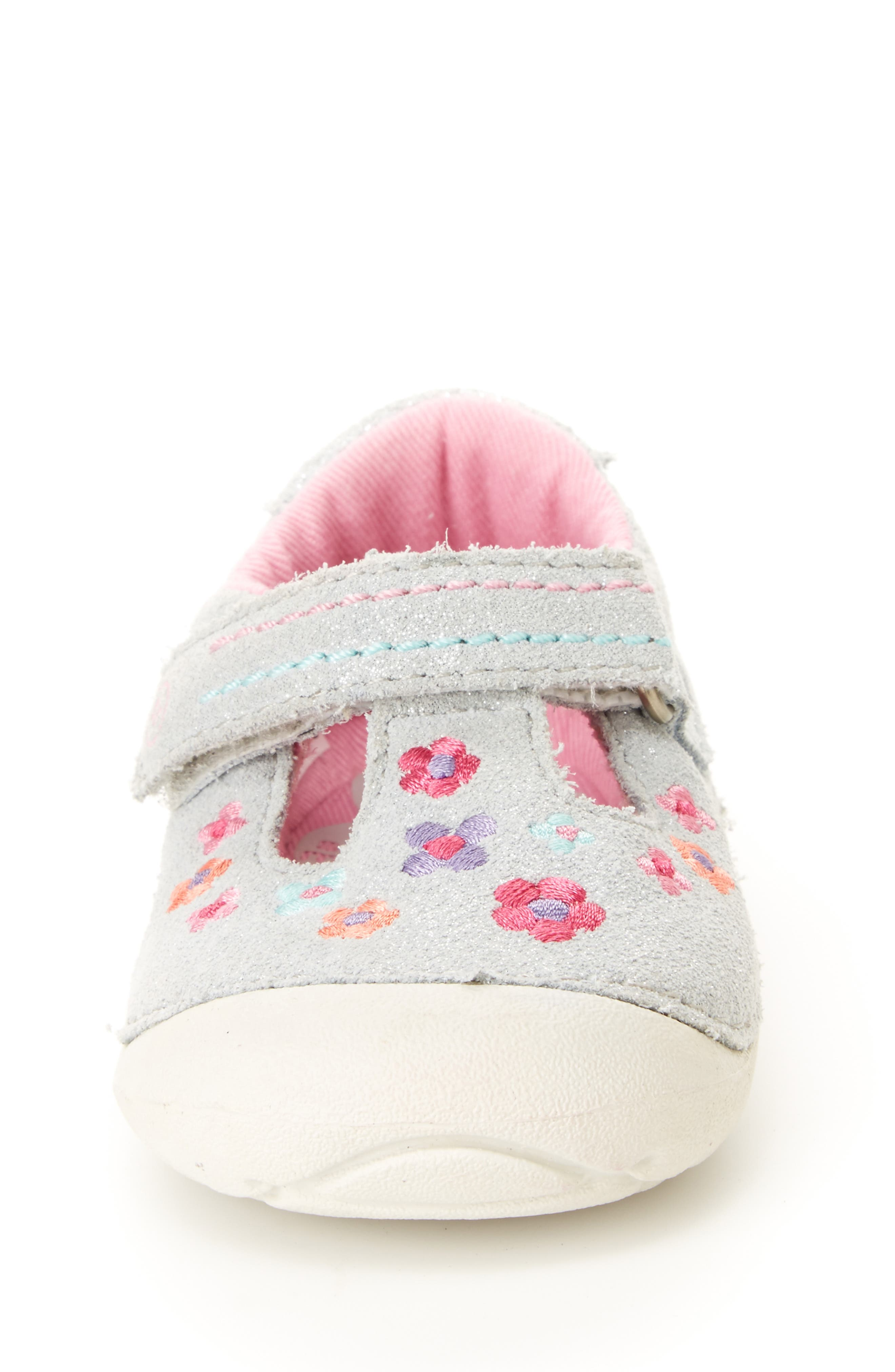STRIDE RITE, Soft Motion<sup>™</sup> Tonia T-Strap Mary Jane, Alternate thumbnail 3, color, SILVER