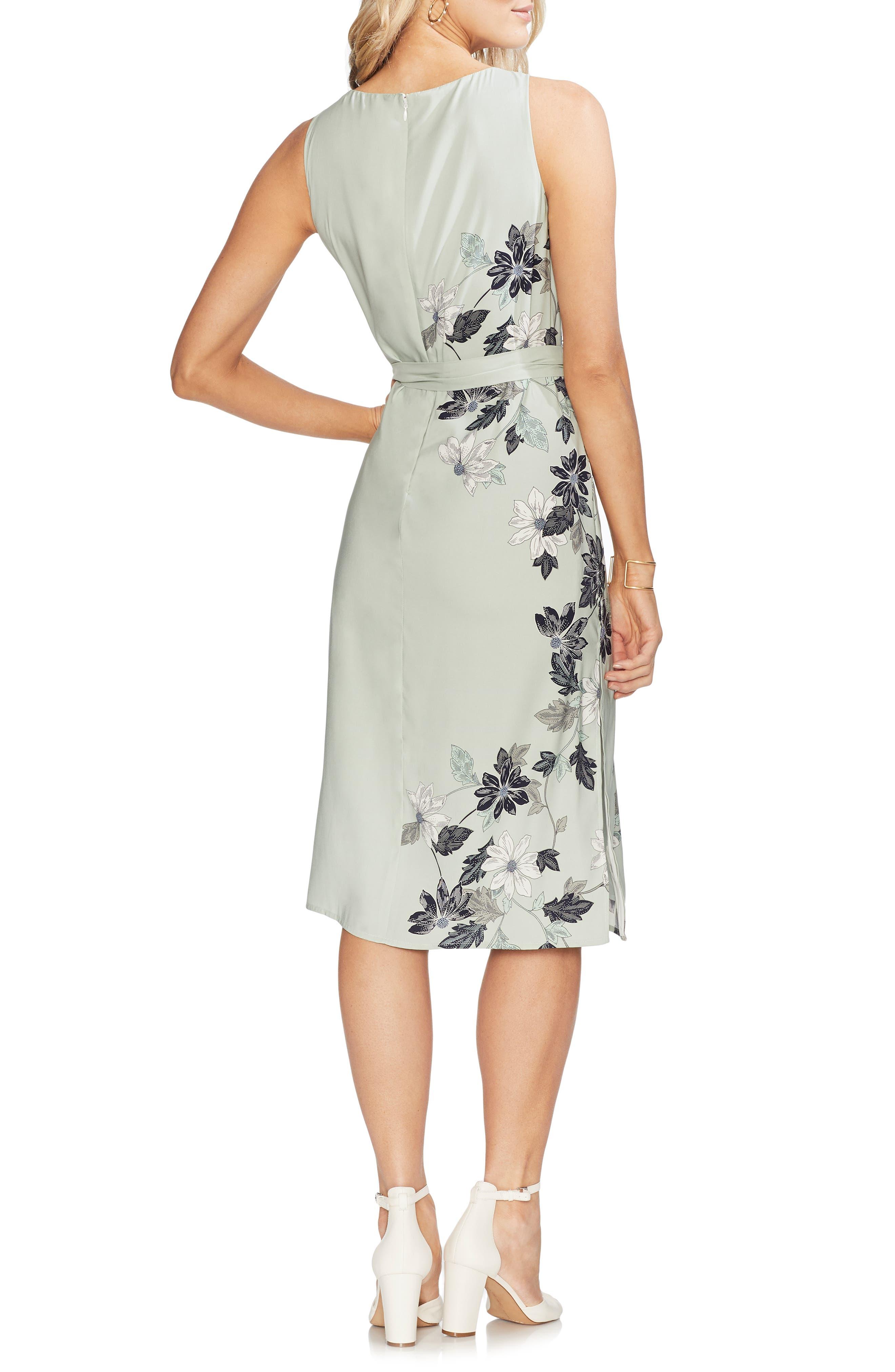 VINCE CAMUTO, Floral Vines Dress, Alternate thumbnail 2, color, 309