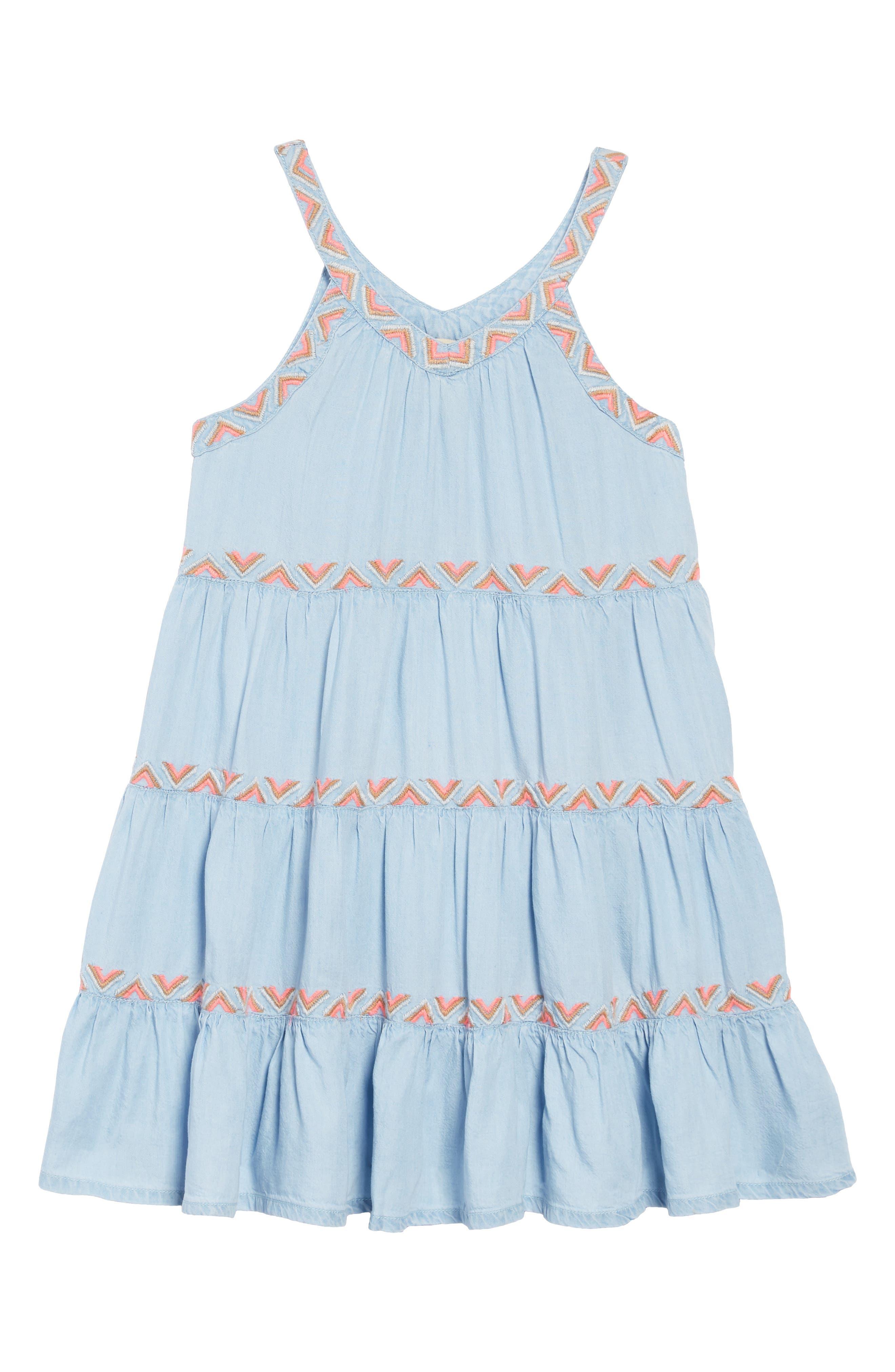 Girls Peek ArenT You Curious Sarafina Chambray Dress Size 8  Blue