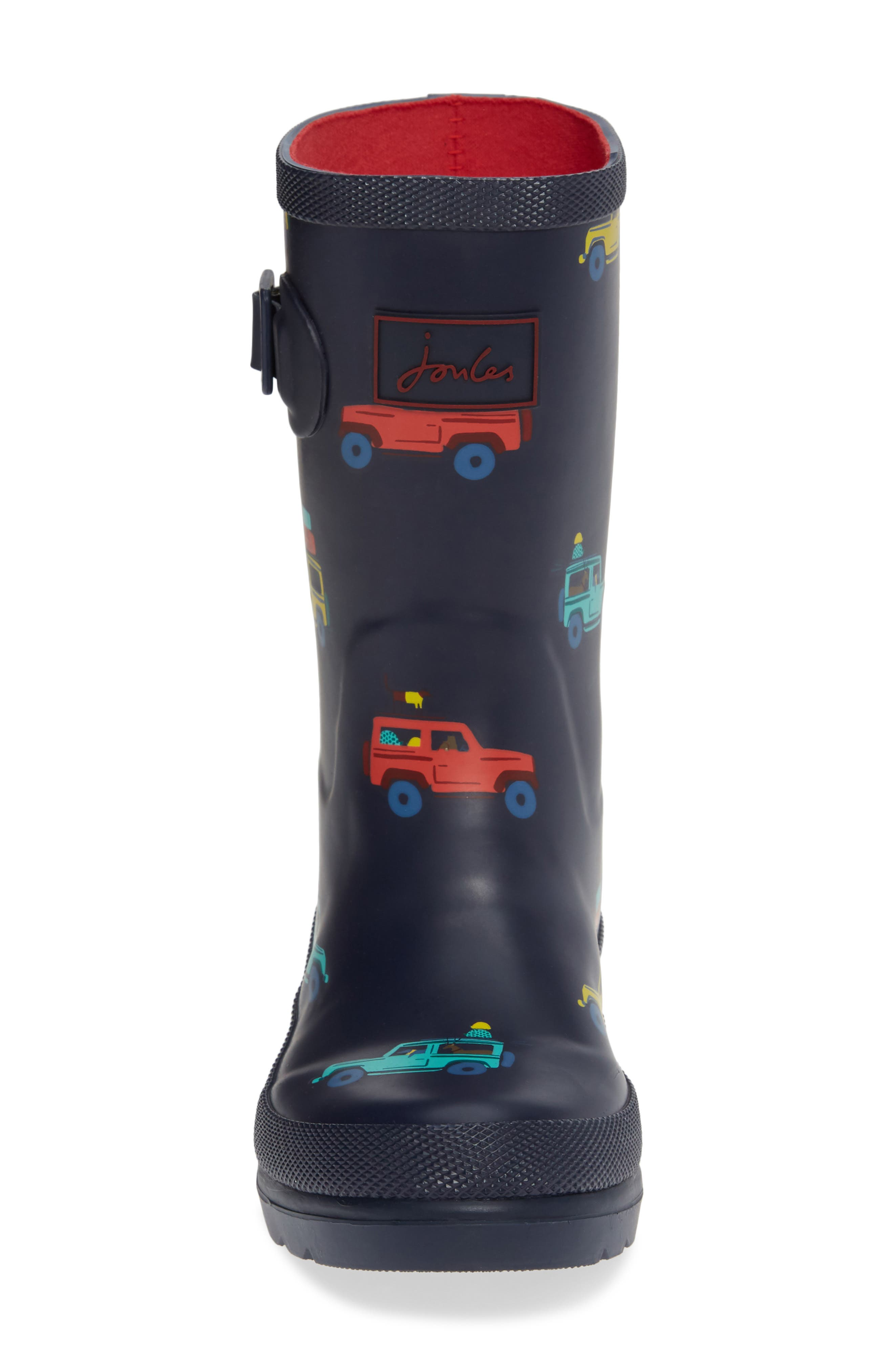 JOULES, Welly Print Waterproof Rain Boot, Alternate thumbnail 4, color, NAVY SCOUT AND ABOUT