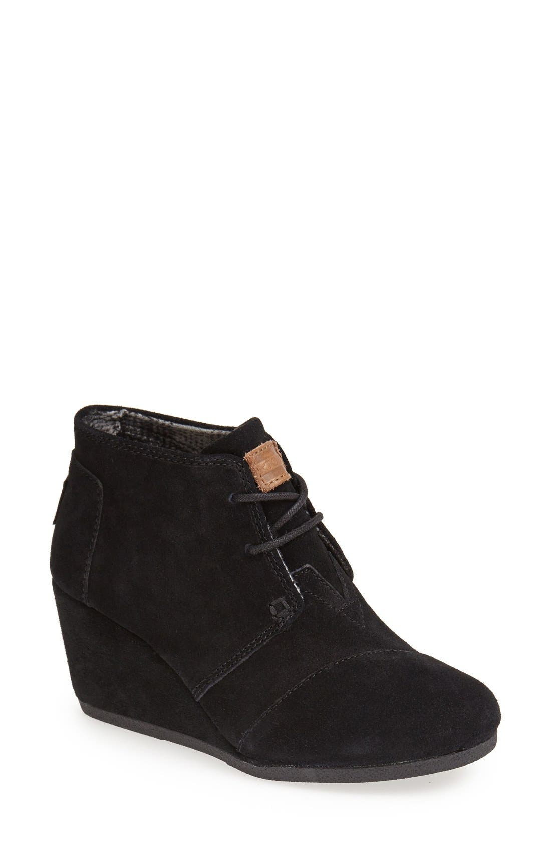 TOMS 'Desert' Wedge Bootie, Main, color, 001