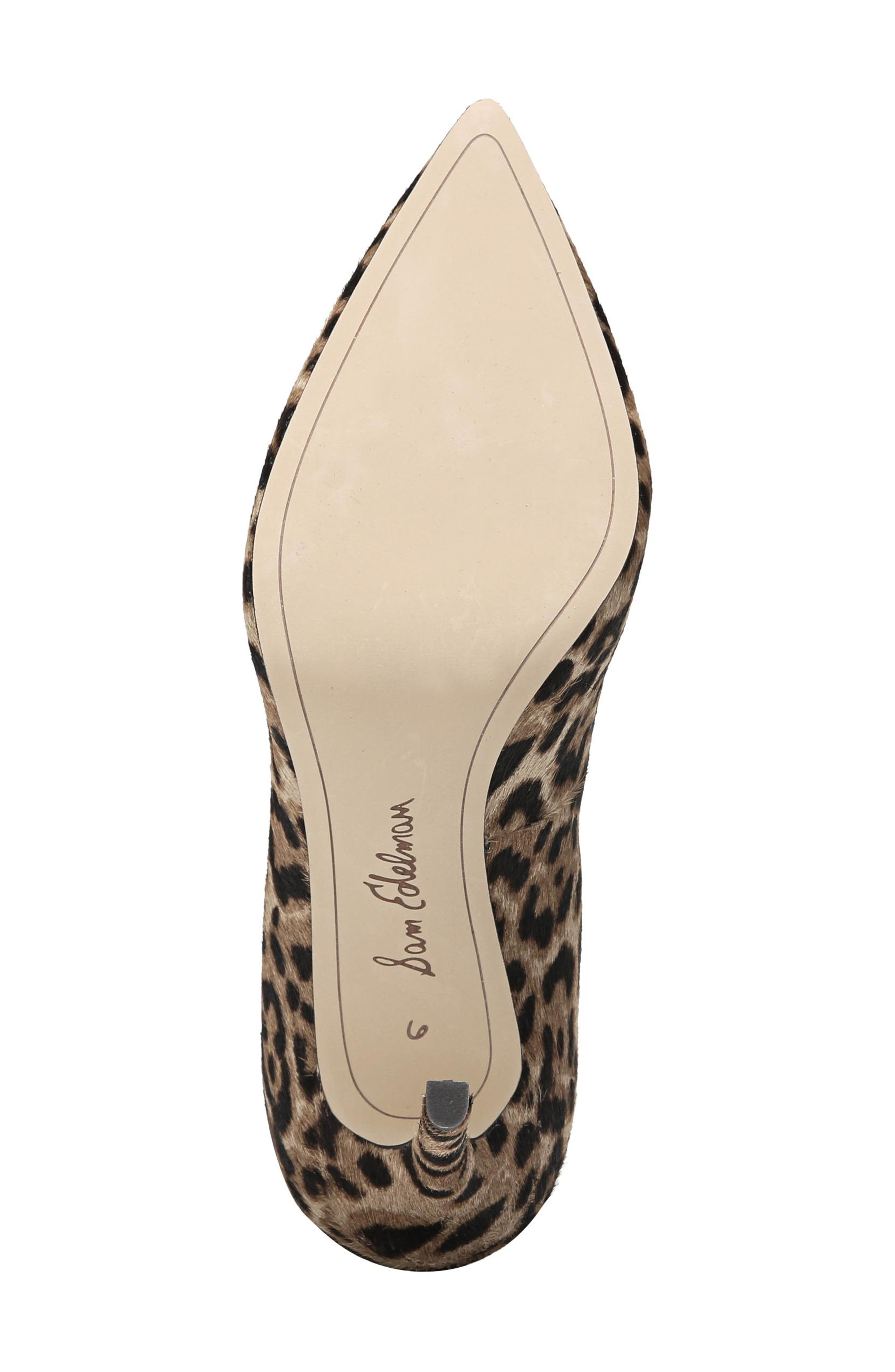 SAM EDELMAN, Hazel Pointy Toe Pump, Alternate thumbnail 6, color, LEOPARD CALF HAIR