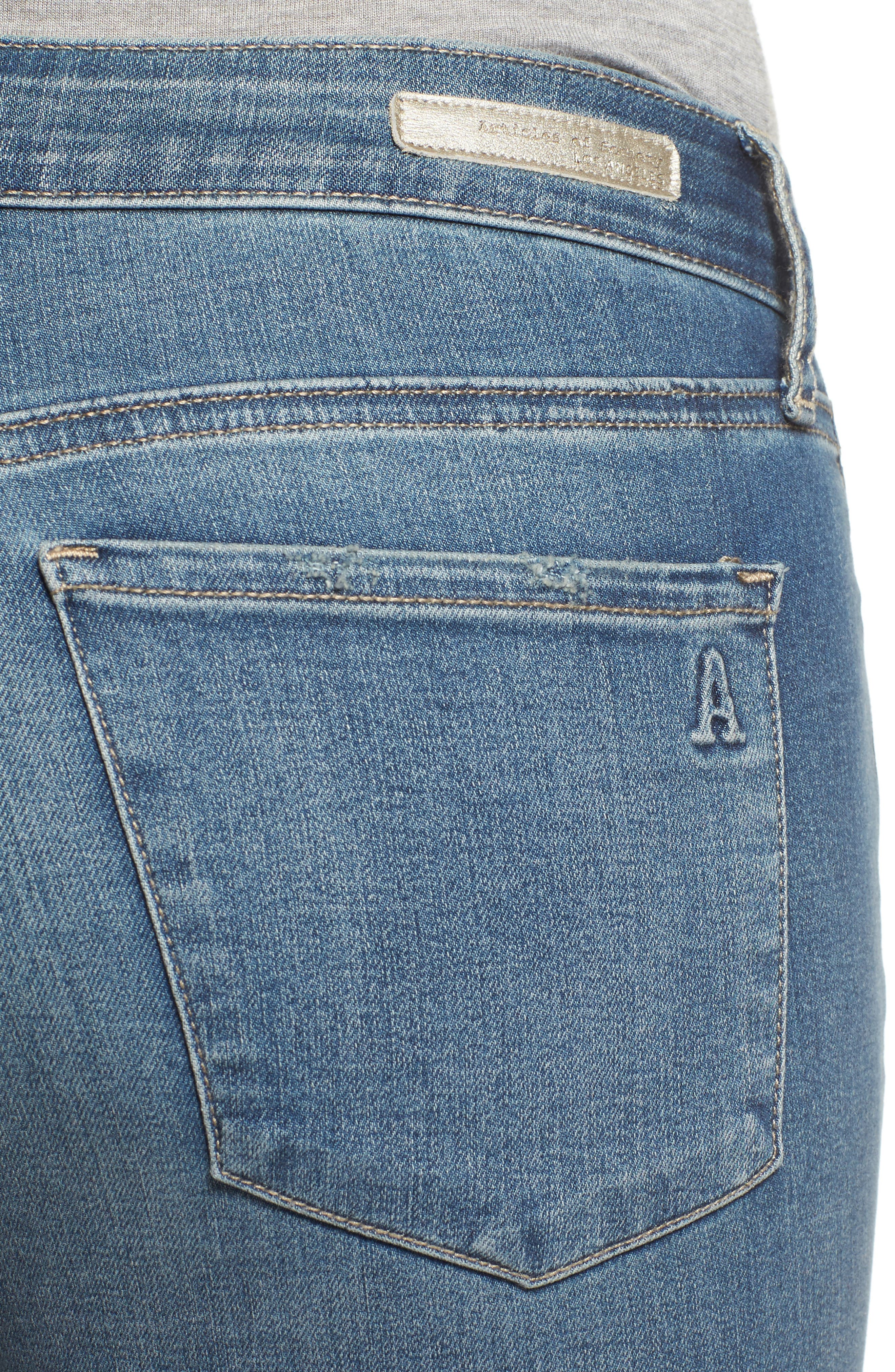 ARTICLES OF SOCIETY, Karen Ripped Crop Skinny Jeans, Alternate thumbnail 4, color, 400