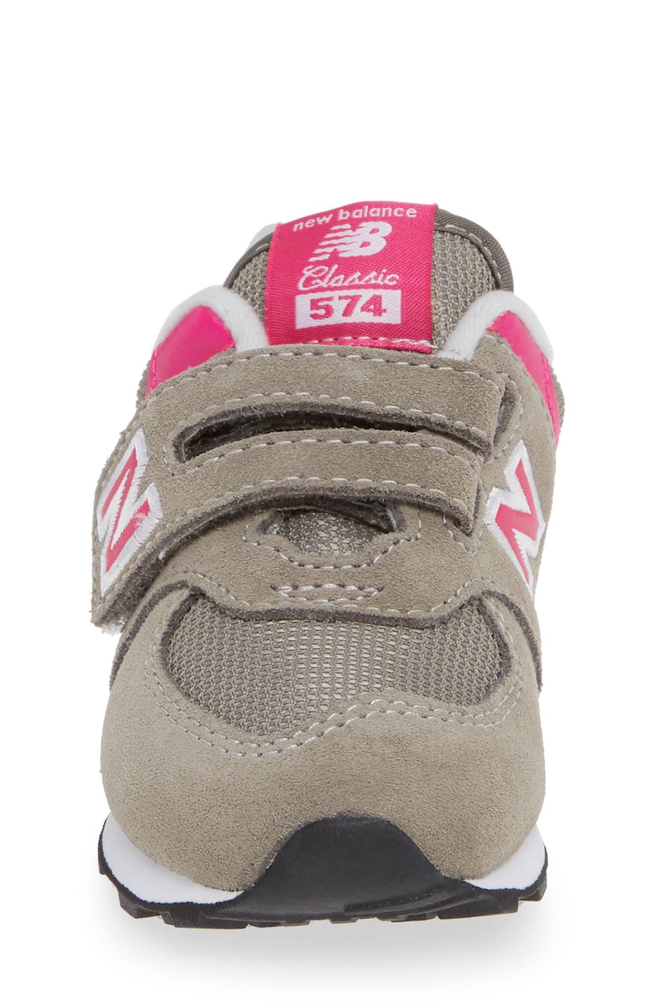 NEW BALANCE, '574 Core' Sneaker, Alternate thumbnail 4, color, GREY/ PINK