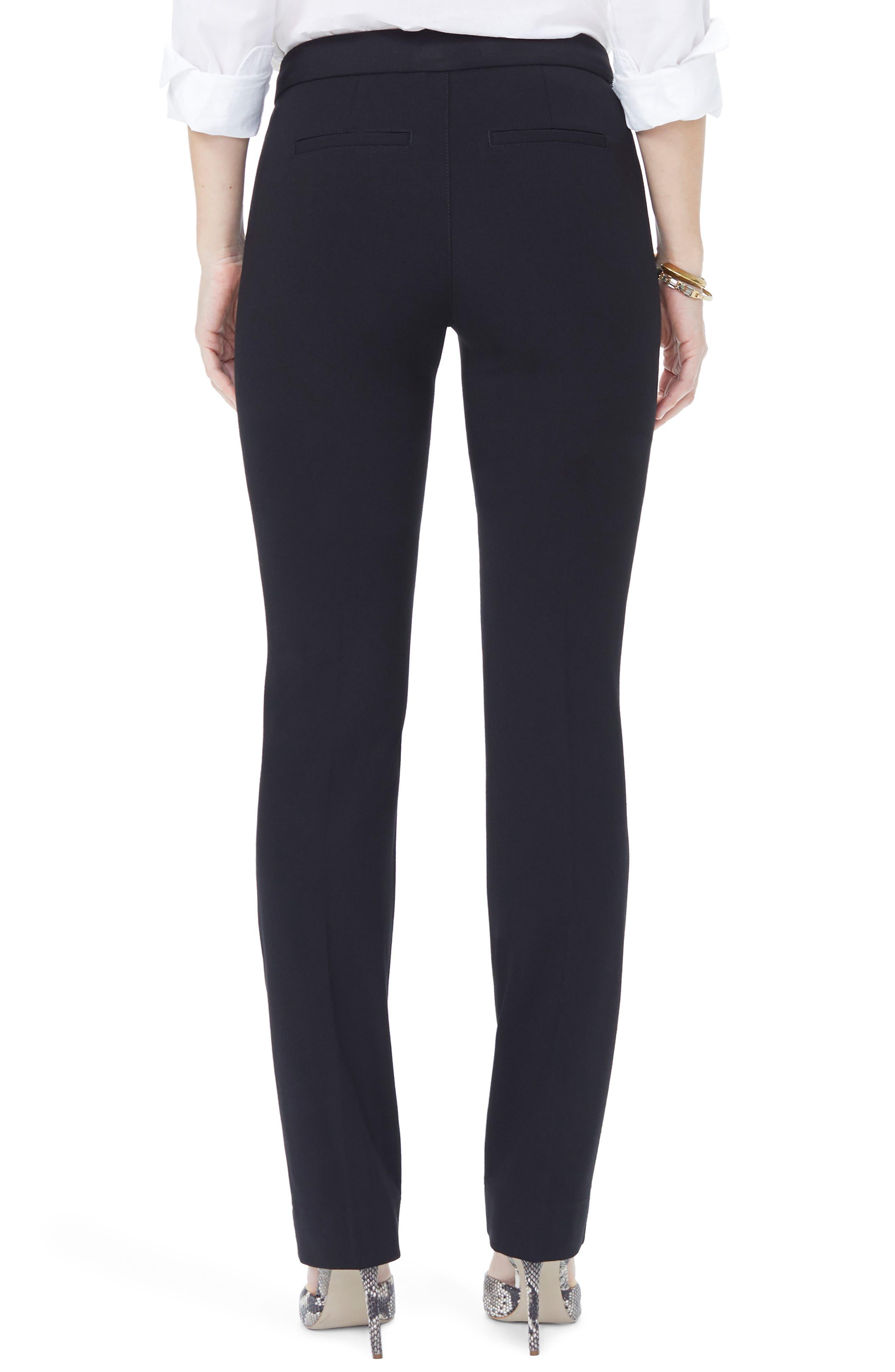 NYDJ, Stretch Knit Trousers, Alternate thumbnail 2, color, BLACK