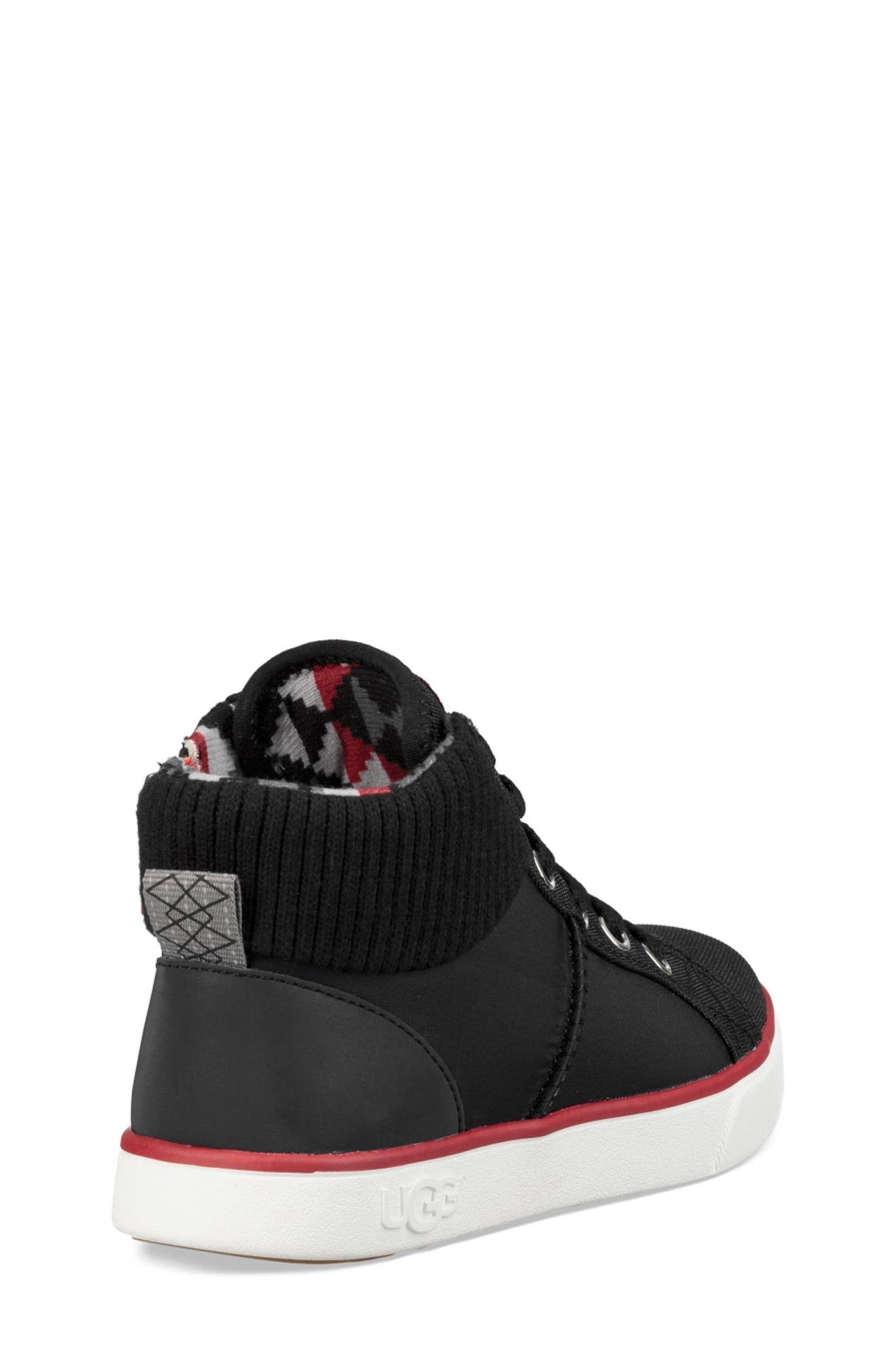 UGG<SUP>®</SUP>, Boscoe Sneaker, Alternate thumbnail 2, color, 001
