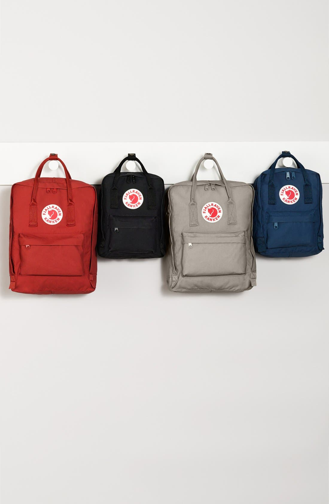FJÄLLRÄVEN, 'Mini Kånken' Water Resistant Backpack, Alternate thumbnail 8, color, BLACK