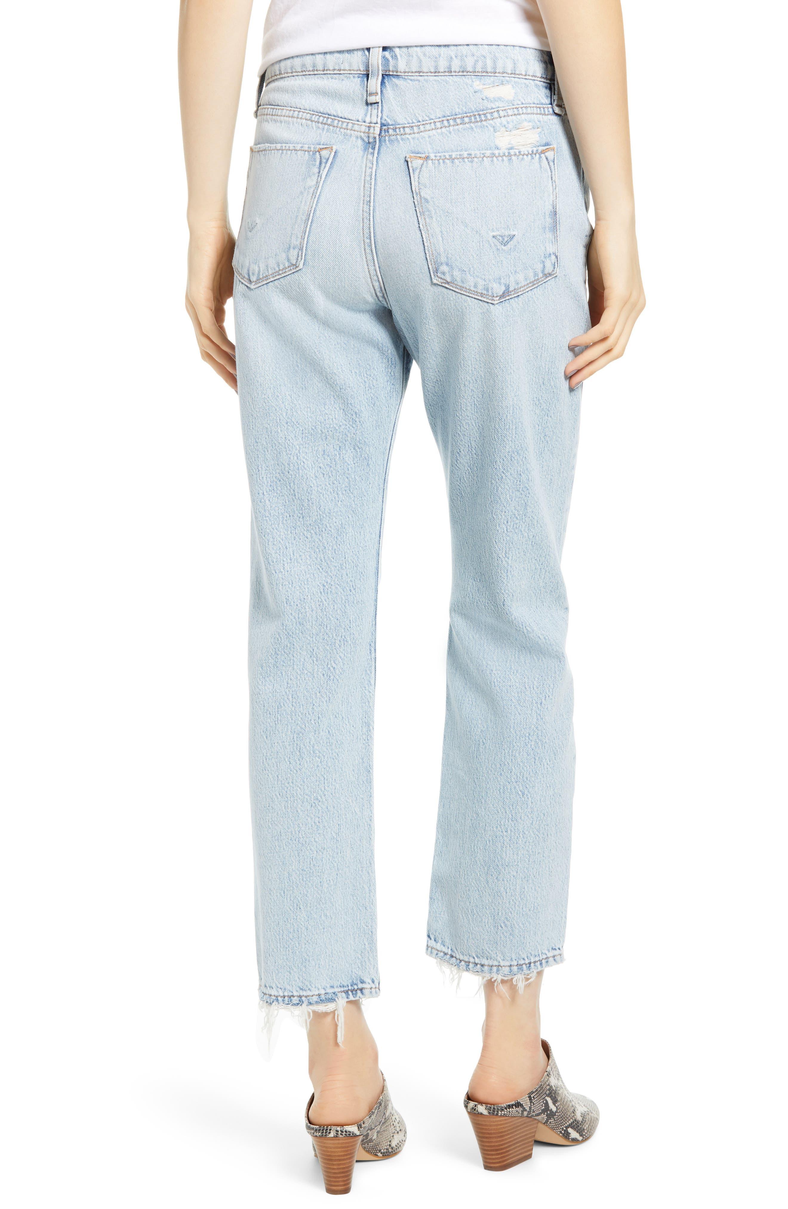 HUDSON JEANS, Jessi Ripped Crop Boyfriend Jeans, Alternate thumbnail 2, color, SAVE TONIGHT