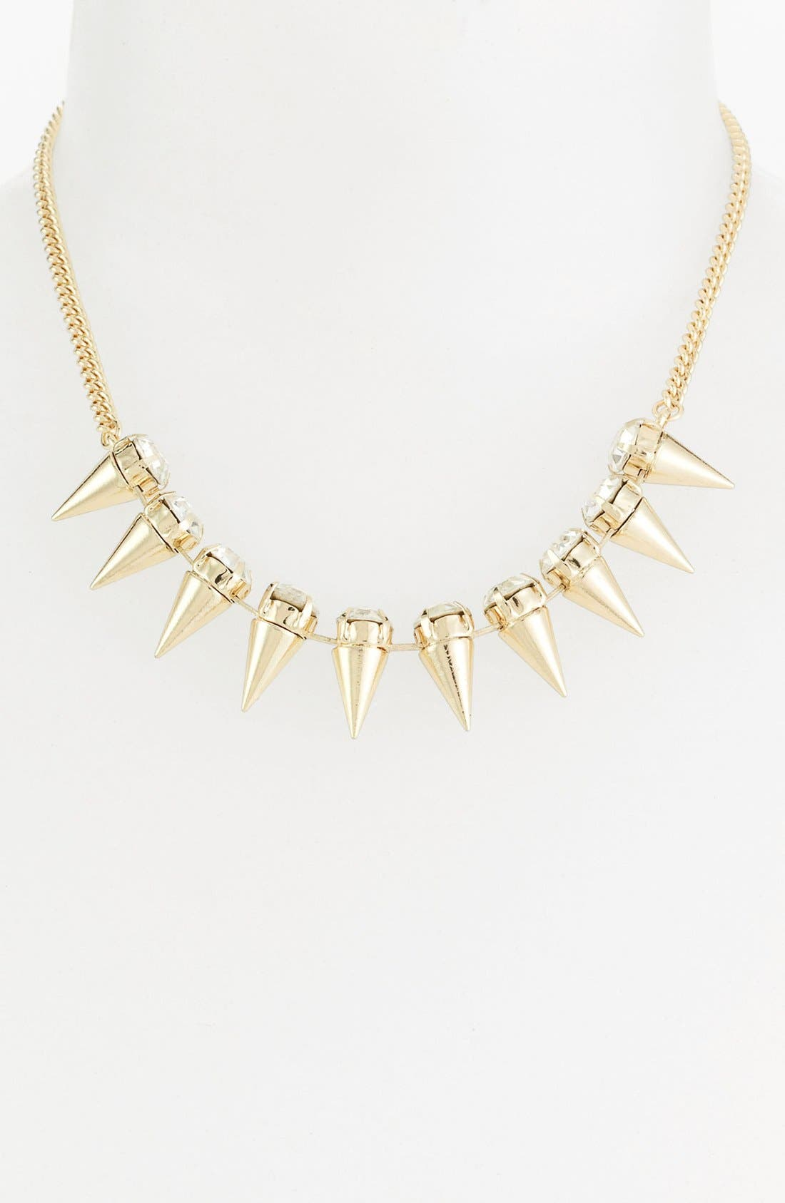 STATEMENTS BY DCK, Metal Spike Necklace, Main thumbnail 1, color, 700