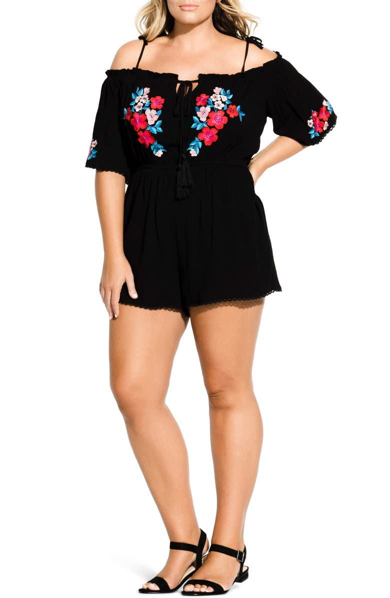 City Chic Suits PETRA TIE SHOULDER PLAYSUIT