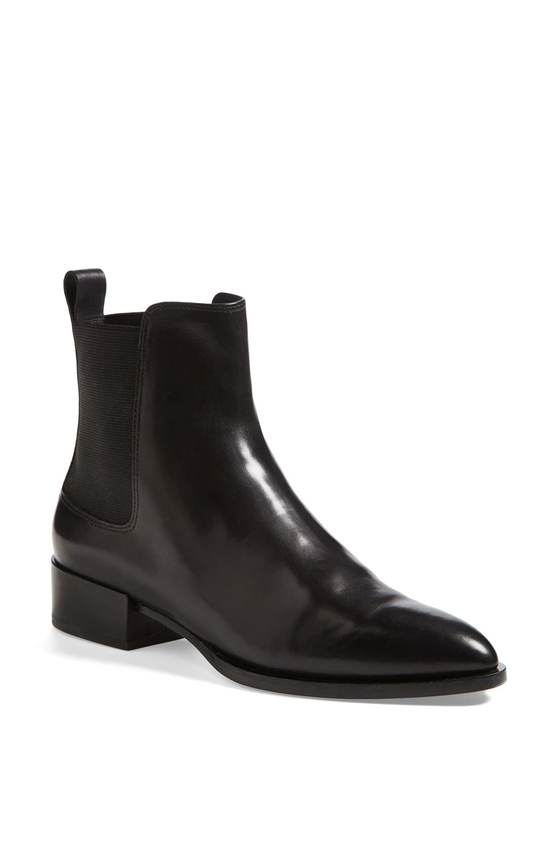 VINCE, 'Yarmon' Almond Toe Calfskin Leather Chelsea Boot, Main thumbnail 1, color, 002