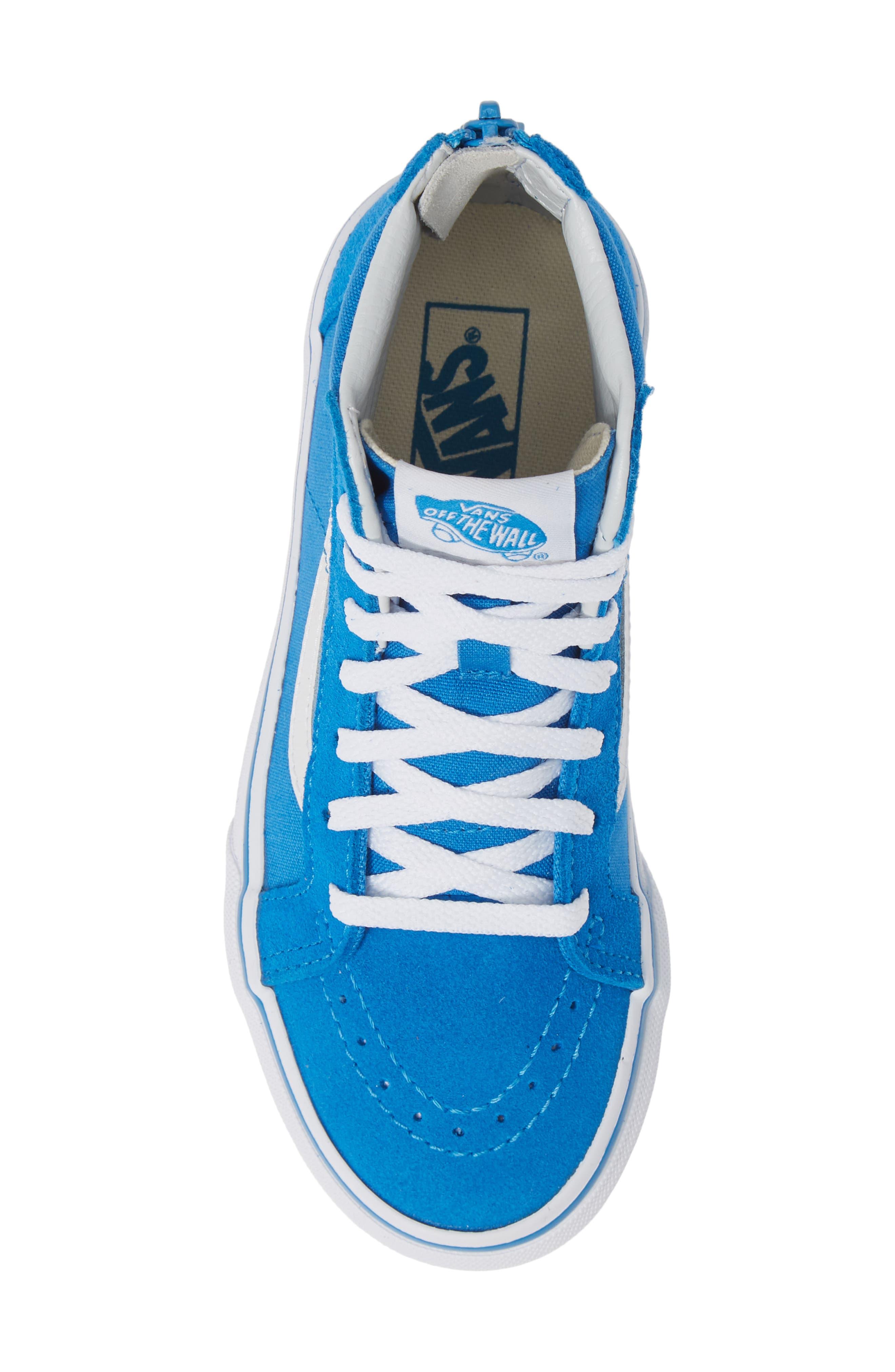 VANS, 'Sk8-Hi' Sneaker, Alternate thumbnail 5, color, INDIGO BUNTING/ TRUE WHITE