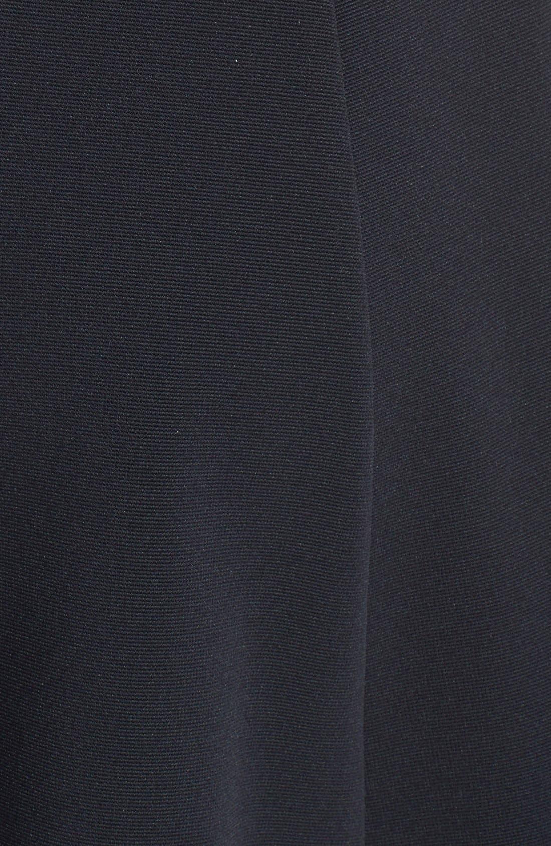 HAILEY LOGAN, Mesh Inset Skater Dress, Alternate thumbnail 4, color, 001
