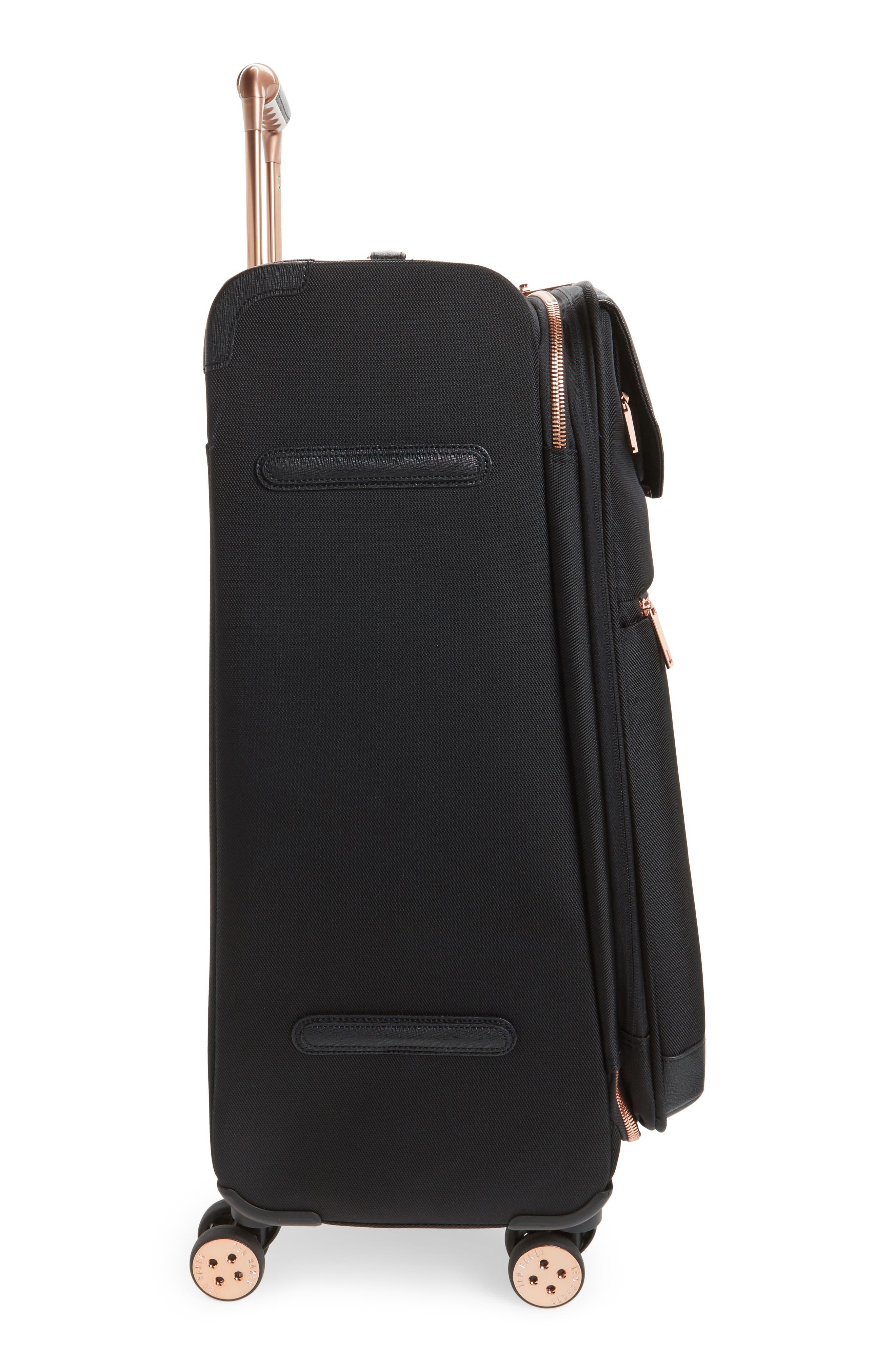 TED BAKER LONDON, Medium Albany 27-Inch Spinner Suitcase, Alternate thumbnail 3, color, BLACK