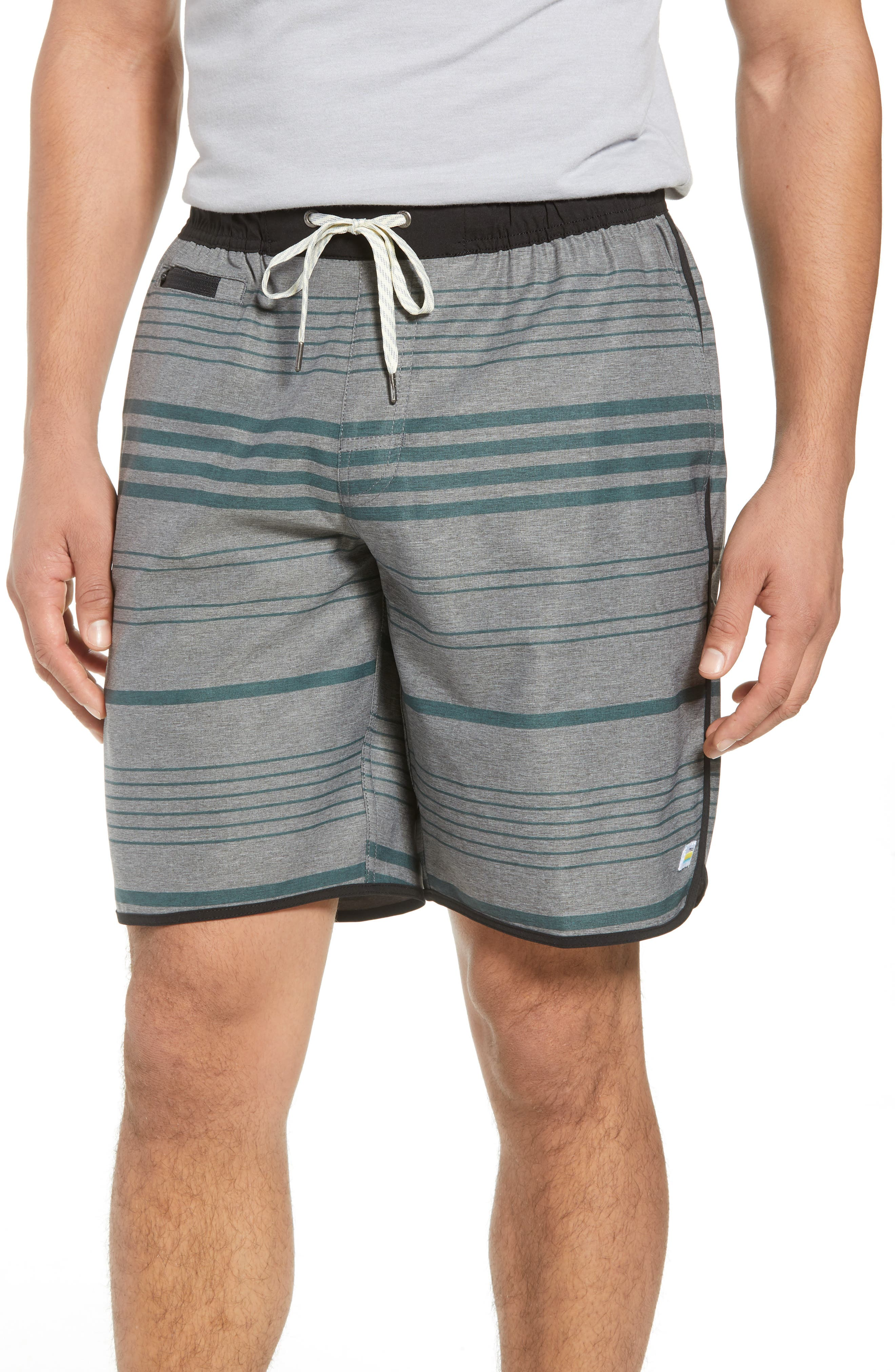VUORI, Banks Performance Hybrid Shorts, Main thumbnail 1, color, CANYON MICRO STRIPE