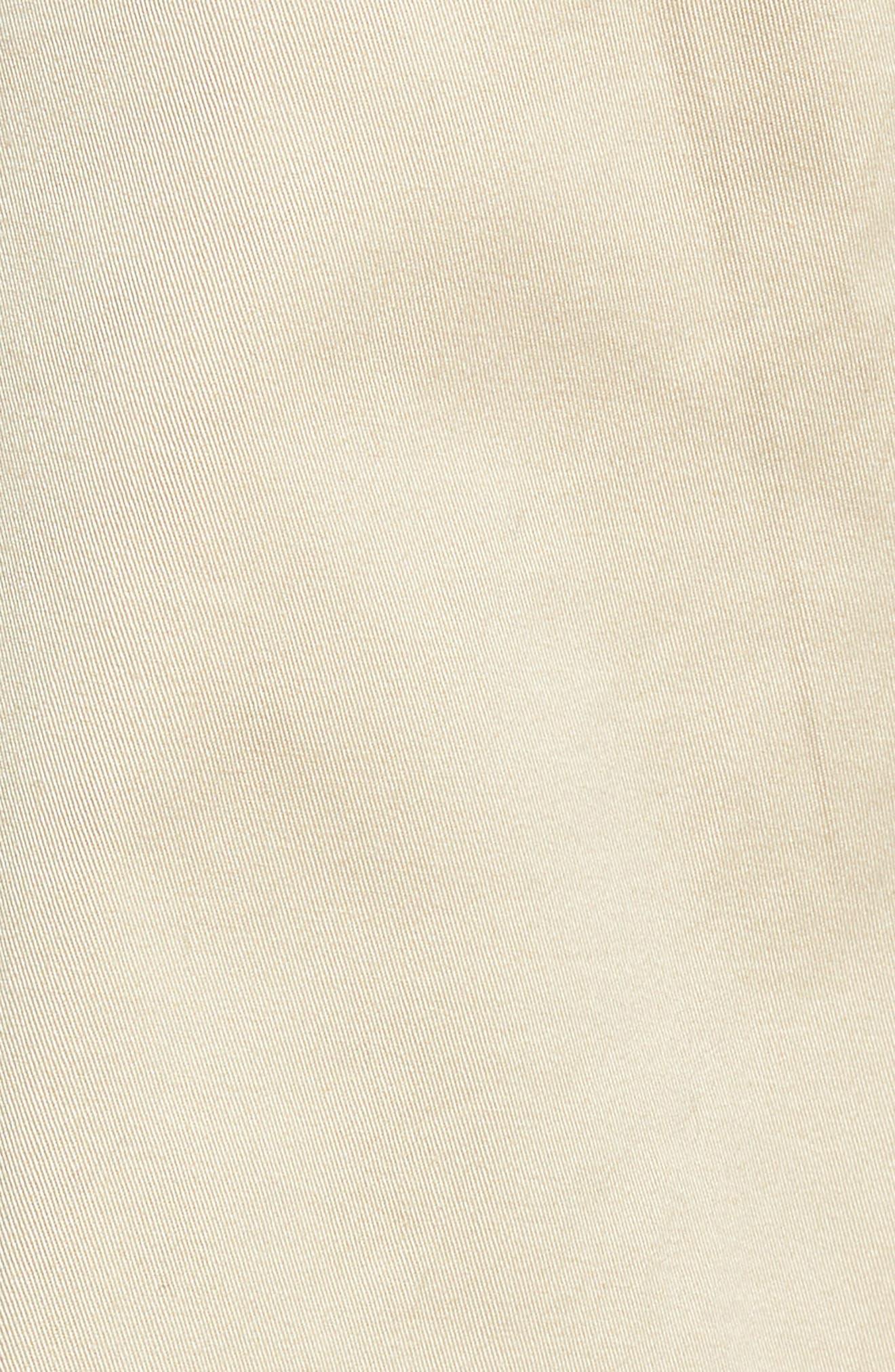 HALOGEN<SUP>®</SUP>, Paperbag Waist Belted Wide Leg Crop Pants, Alternate thumbnail 6, color, TAN OXFORD