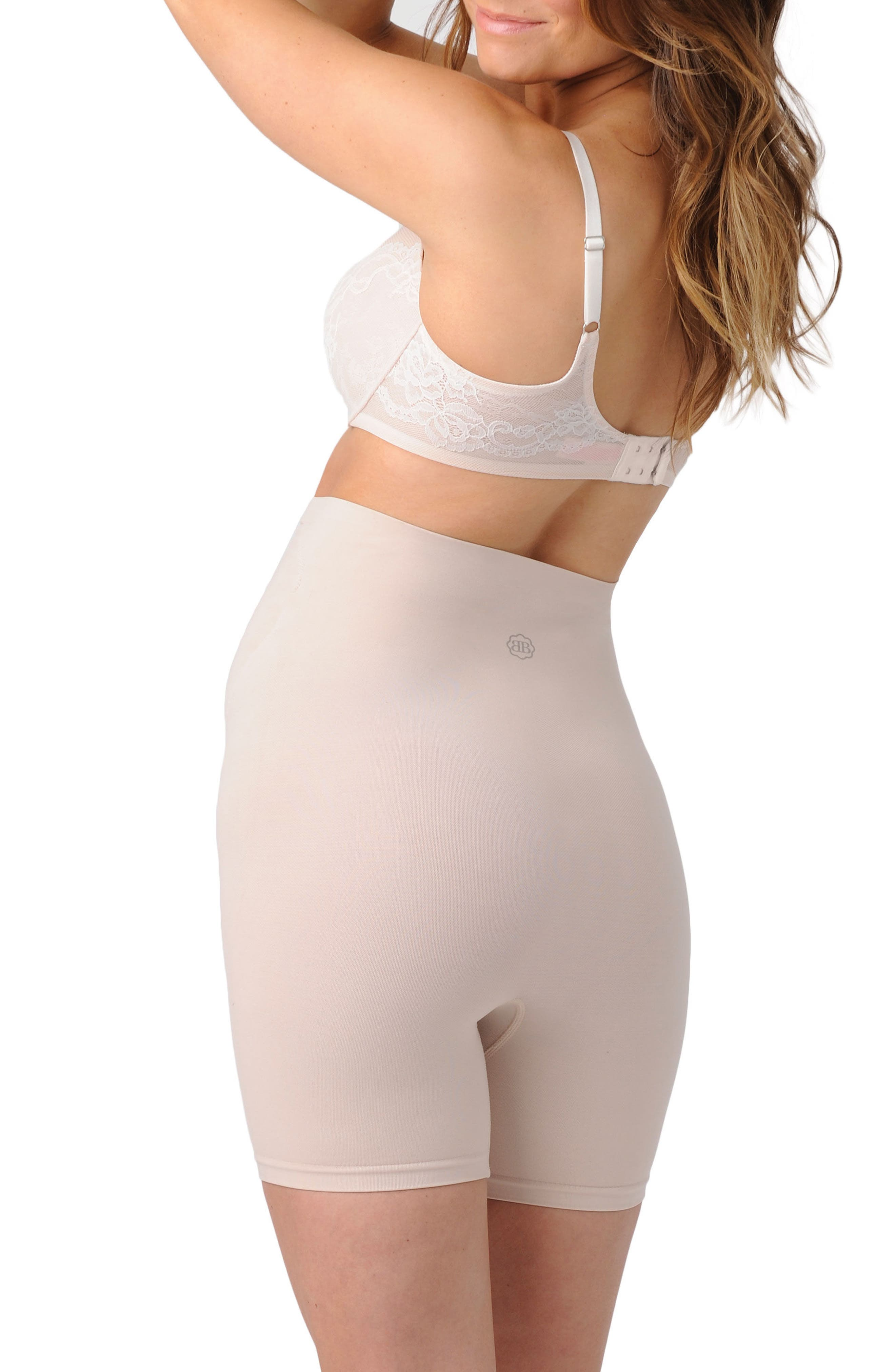 BELLY BANDIT<SUP>®</SUP>, Thighs Disguise<sup>®</sup> Maternity Support Shorts, Alternate thumbnail 2, color, NUDE