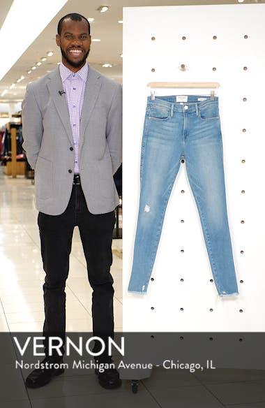 Le Skinny de Jeanne High Waist Raw Hem Jeans, sales video thumbnail