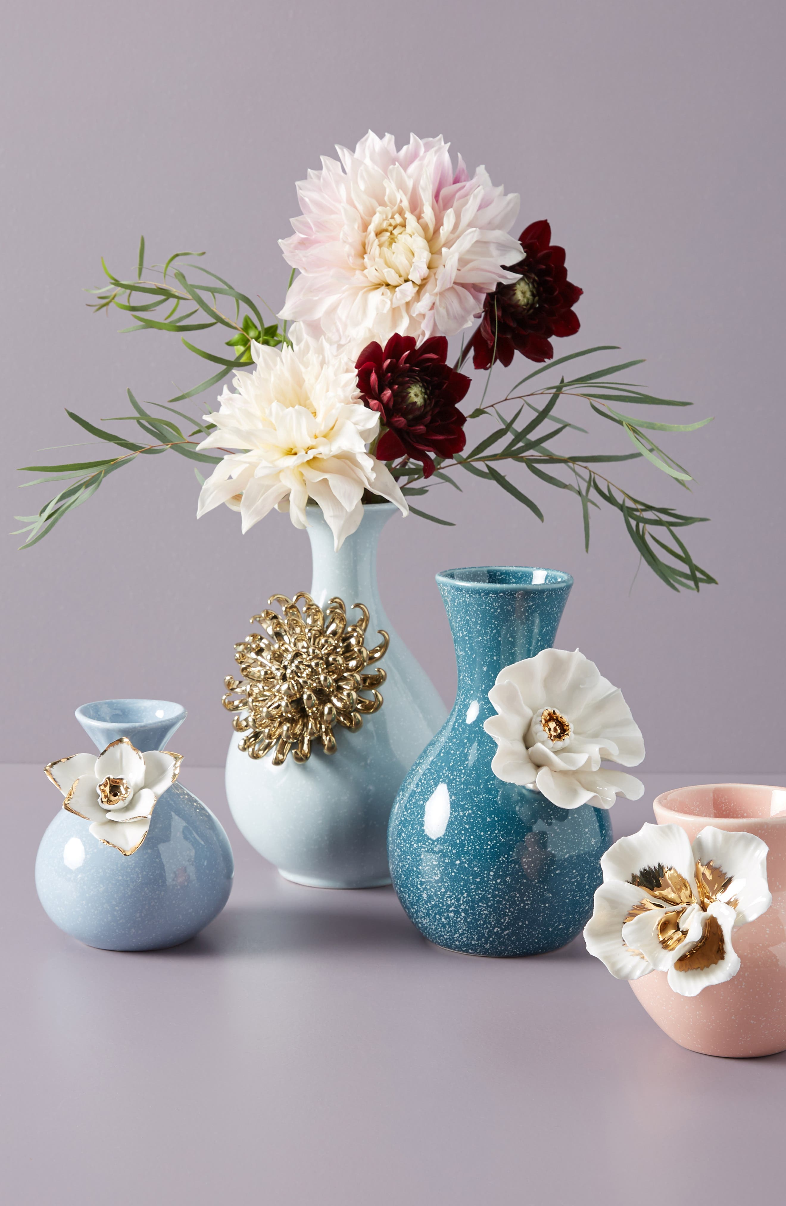 ANTHROPOLOGIE, Bloom Vase, Alternate thumbnail 3, color, BLUE