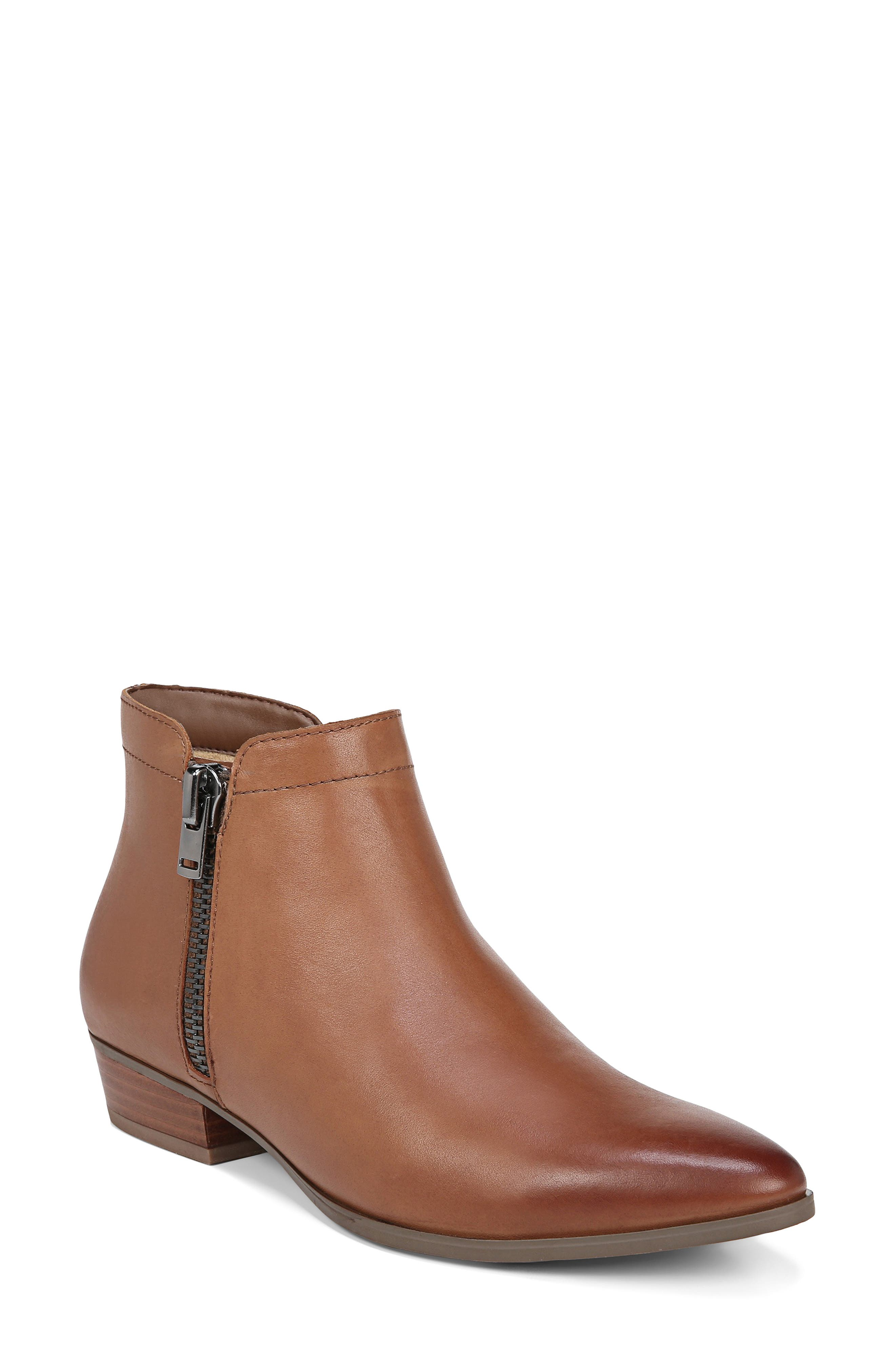 NATURALIZER Blair Bootie, Main, color, BANANA BREAD LEATHER
