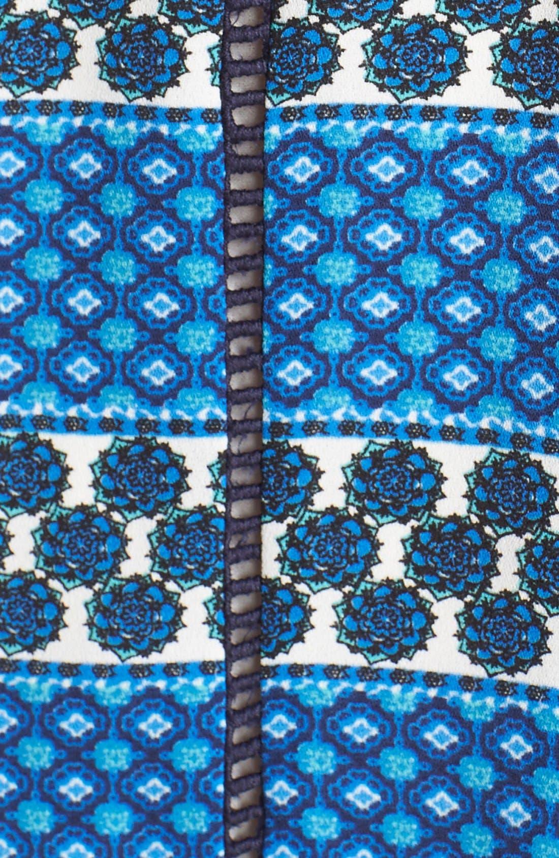 ADELYN RAE, Scarf Print Crepe Trapeze Dress, Alternate thumbnail 2, color, 400