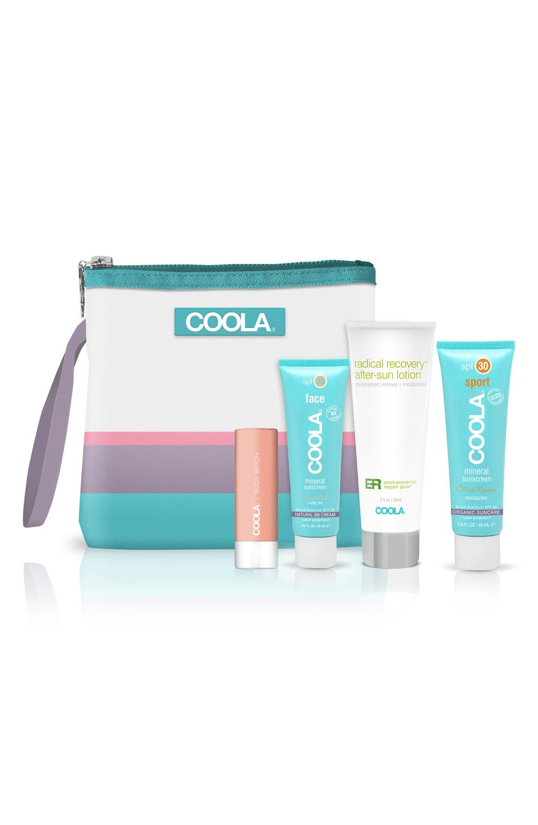 COOLA SUNCARE, COOLA<sup>®</sup> Suncare Go Green Not Red! Mineral Travel Set, Main thumbnail 1, color, 000