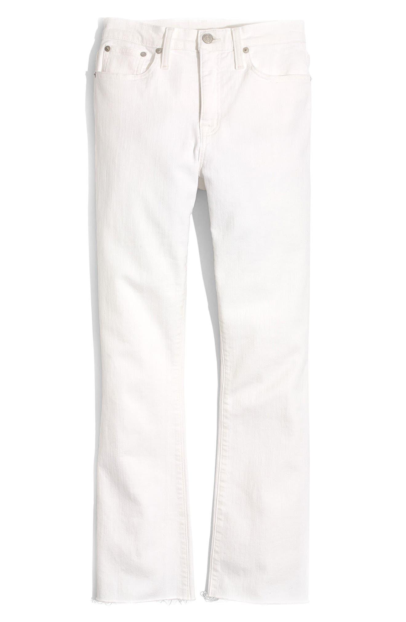 MADEWELL, Cali Raw Edge Demi Boot Jeans, Alternate thumbnail 7, color, PURE WHITE