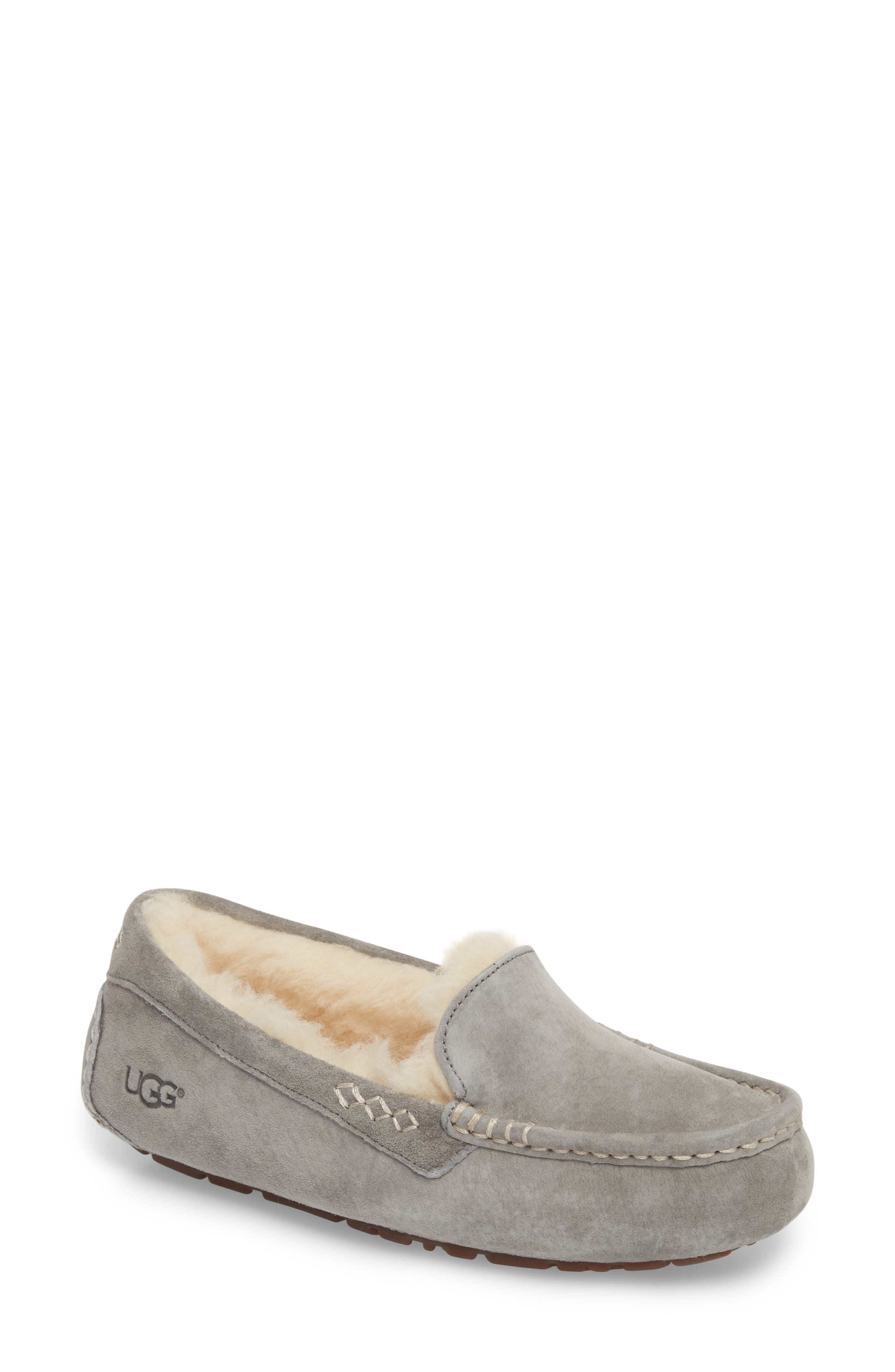 UGG<SUP>®</SUP>, Ansley Water Resistant Slipper, Main thumbnail 1, color, LIGHT GREY