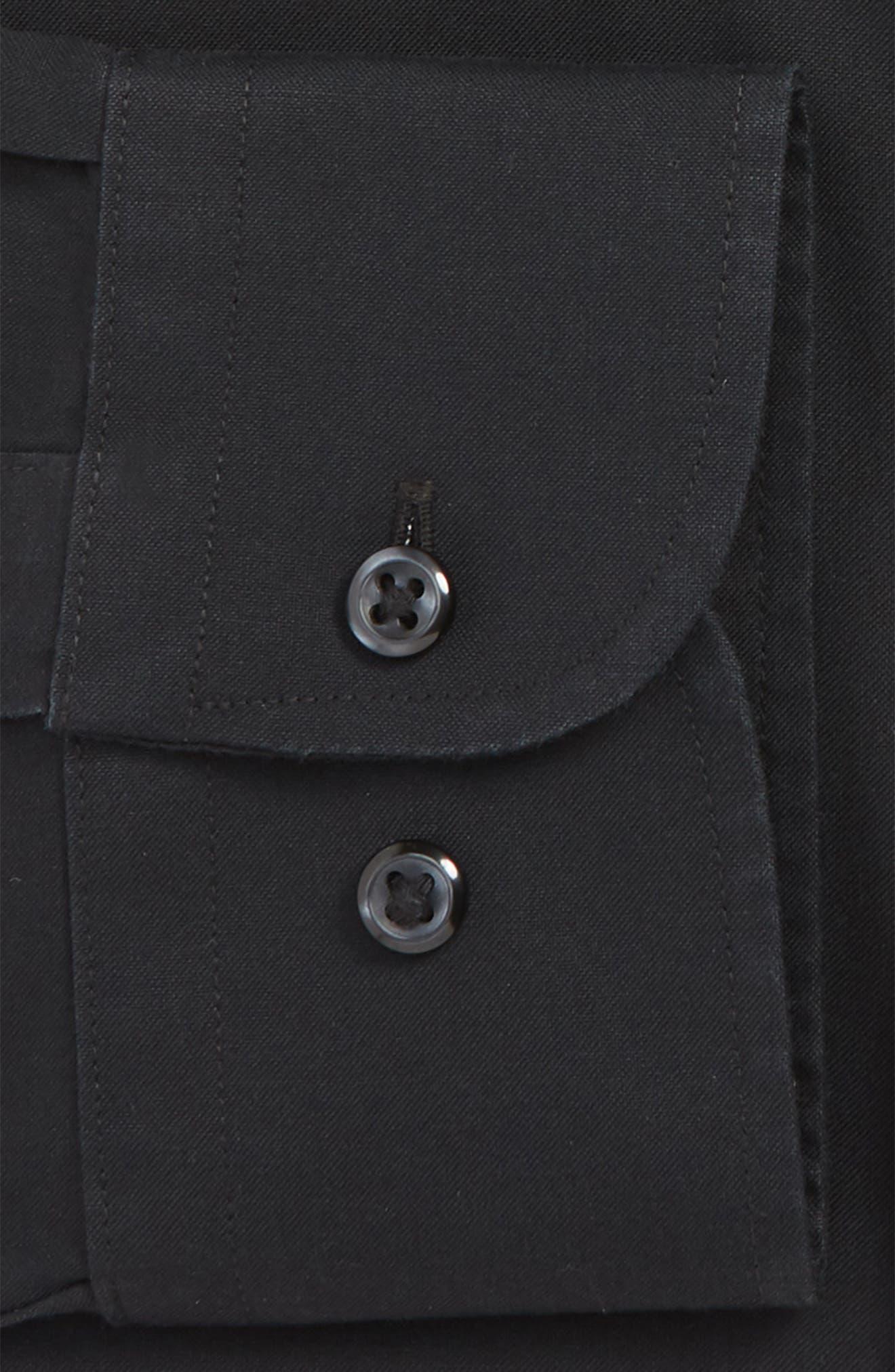 NORDSTROM MEN'S SHOP, Smartcare<sup>™</sup> Traditional Fit Dress Shirt, Alternate thumbnail 2, color, BLACK
