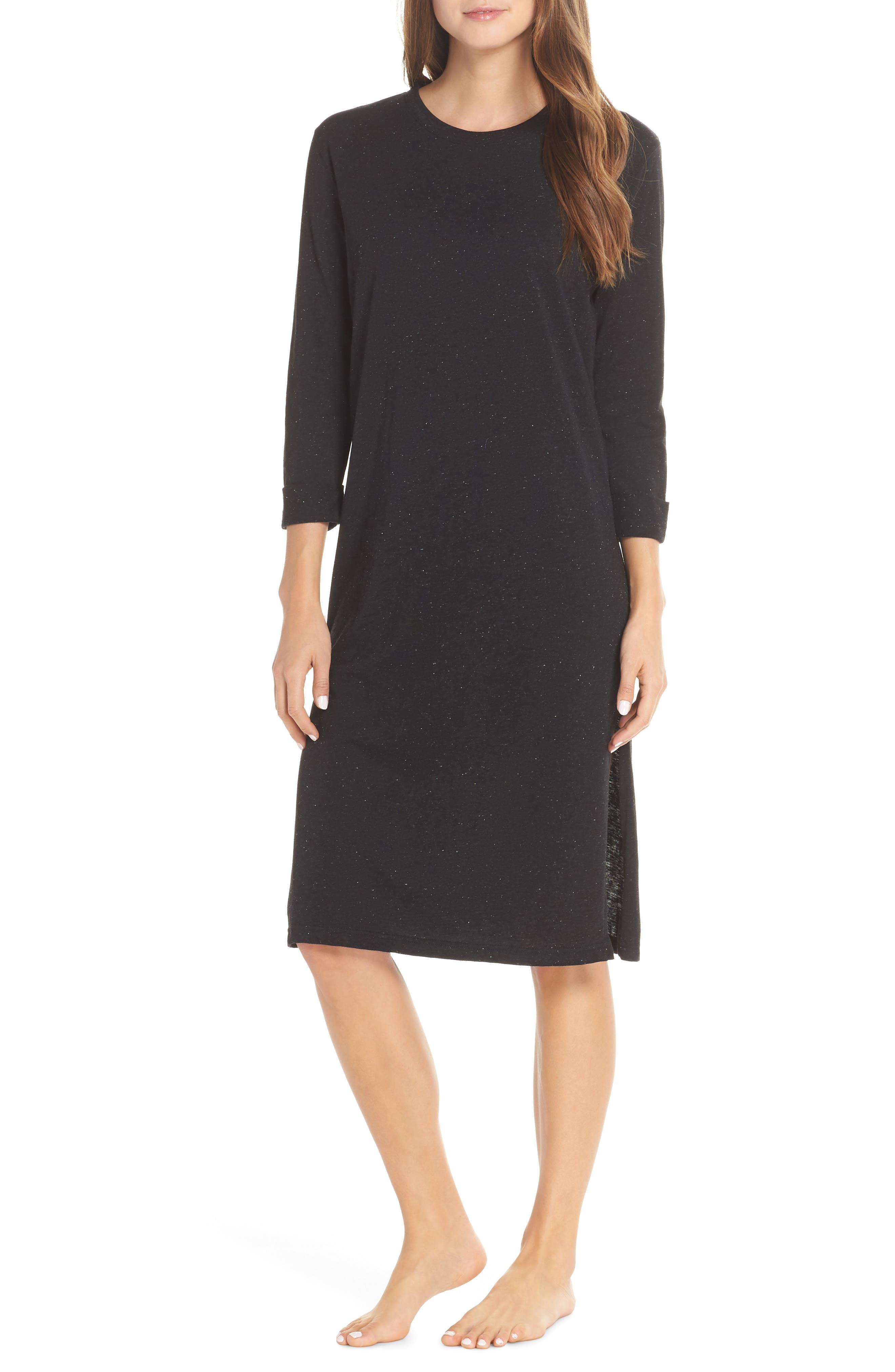 CHALMERS Juniper Lounge Dress, Main, color, CHARCOAL SPECKLE