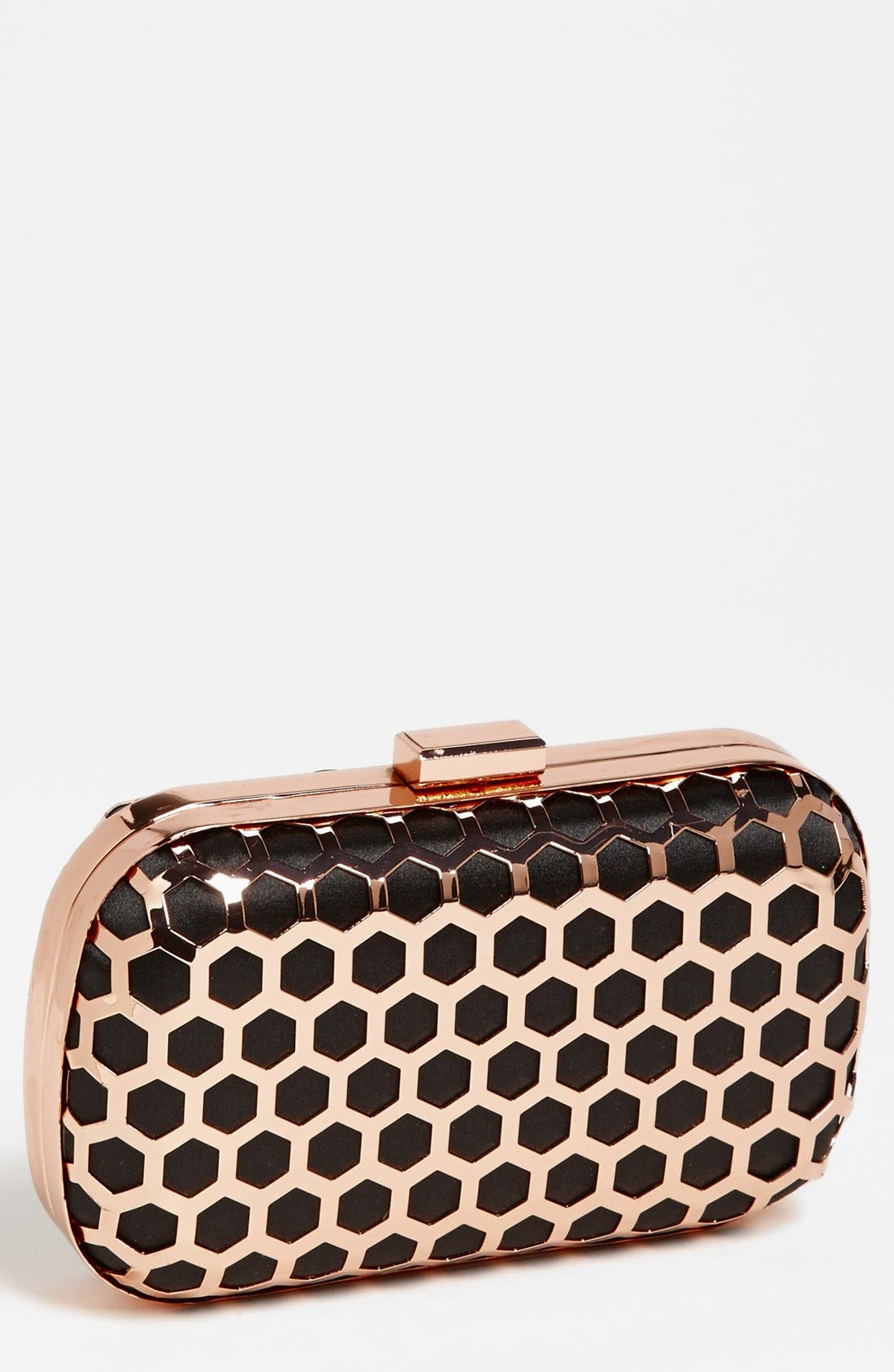 EXPRESSIONS NYC Hexagonal Box Clutch, Main, color, 001
