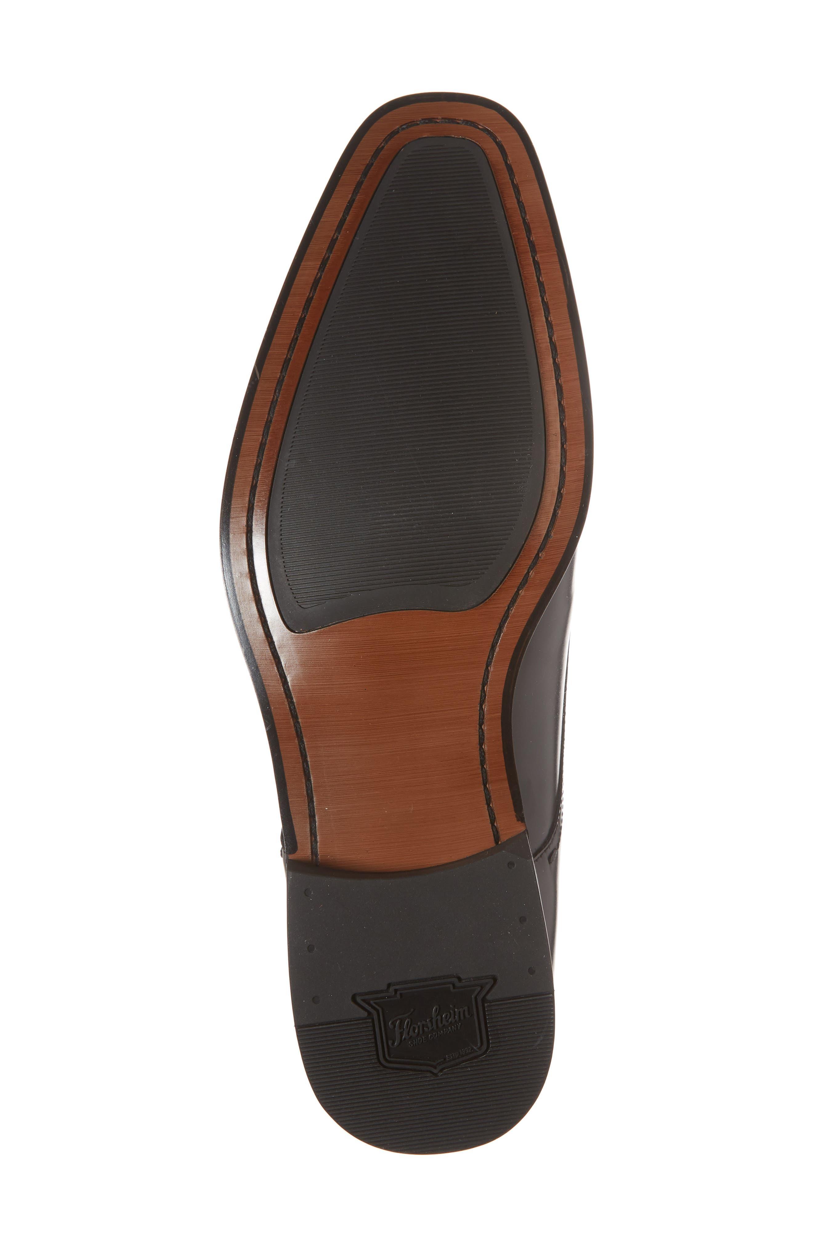 FLORSHEIM, Belfast Single Strap Monk Shoe, Alternate thumbnail 6, color, BLACK LEATHER
