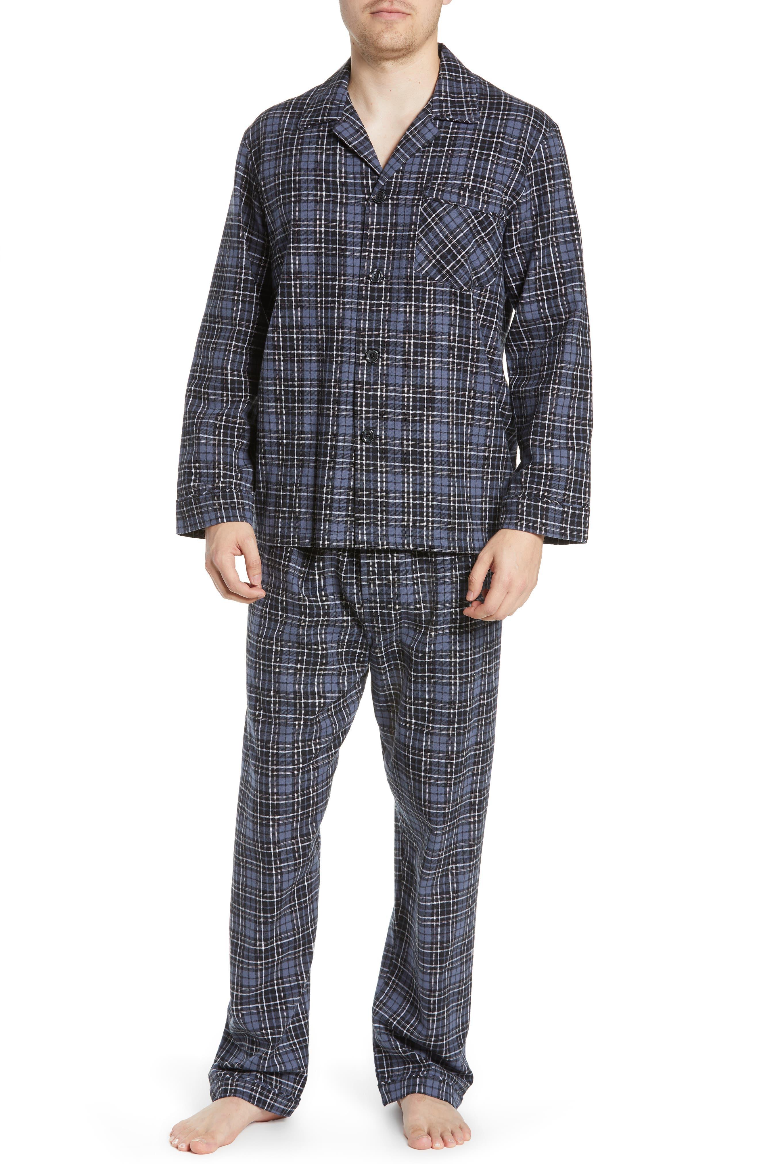MAJESTIC INTERNATIONAL, True Match Flannel Pajamas, Main thumbnail 1, color, 001