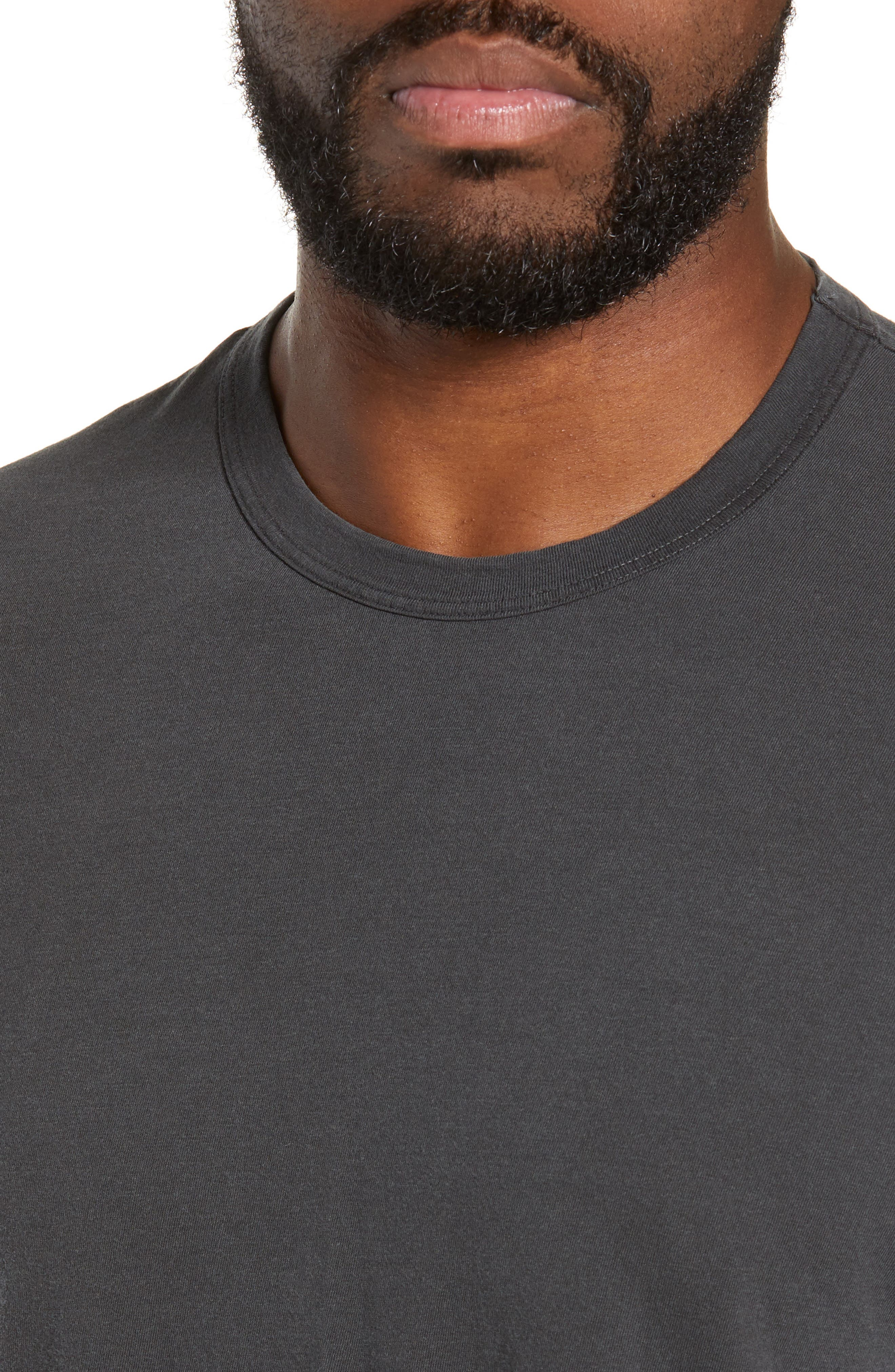 JAMES PERSE, Regular Fit Tonal Palms Crewneck Shirt, Alternate thumbnail 4, color, 020