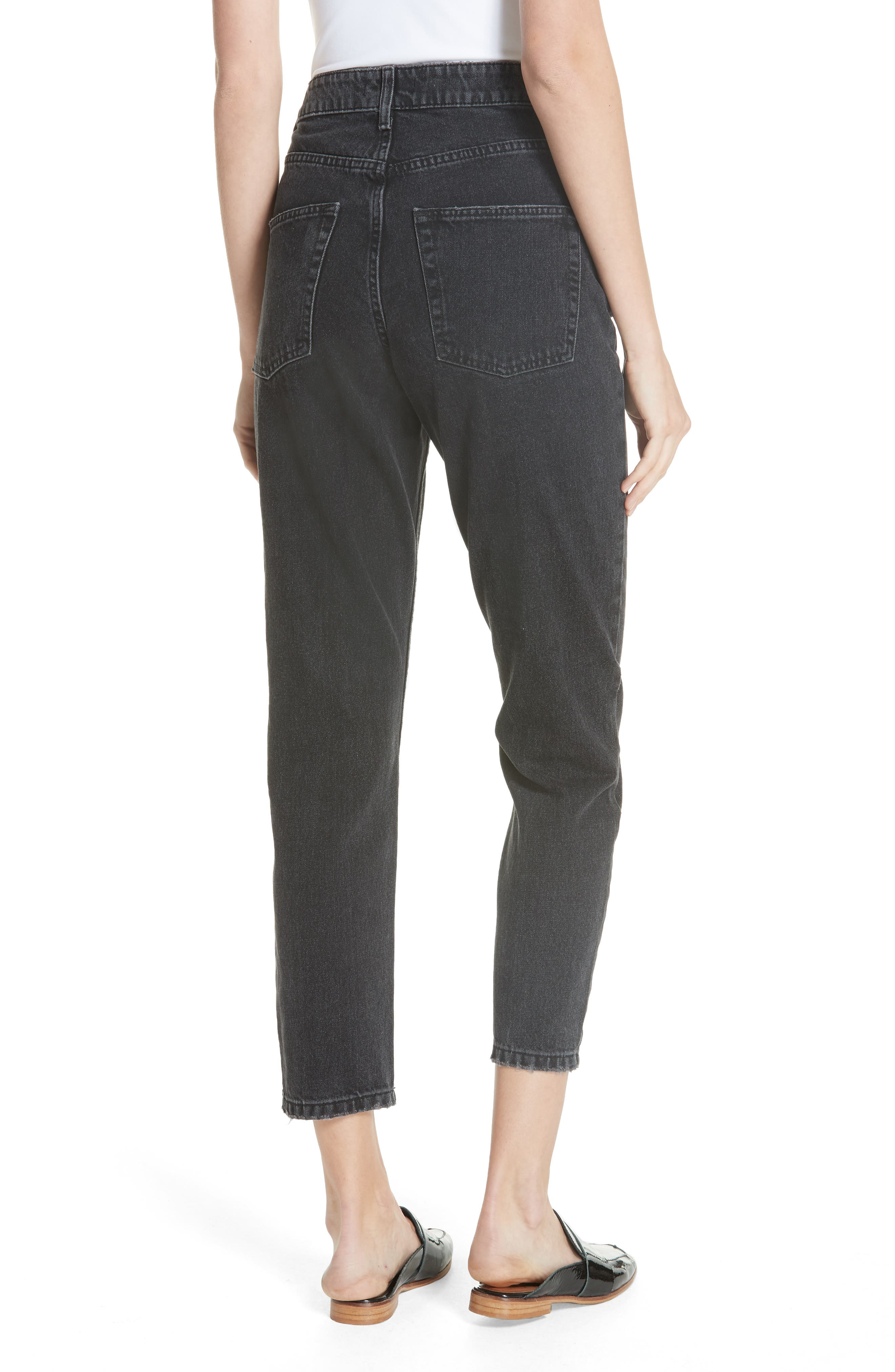 FREE PEOPLE, We the Free by Free People Mom Jeans, Alternate thumbnail 2, color, 001