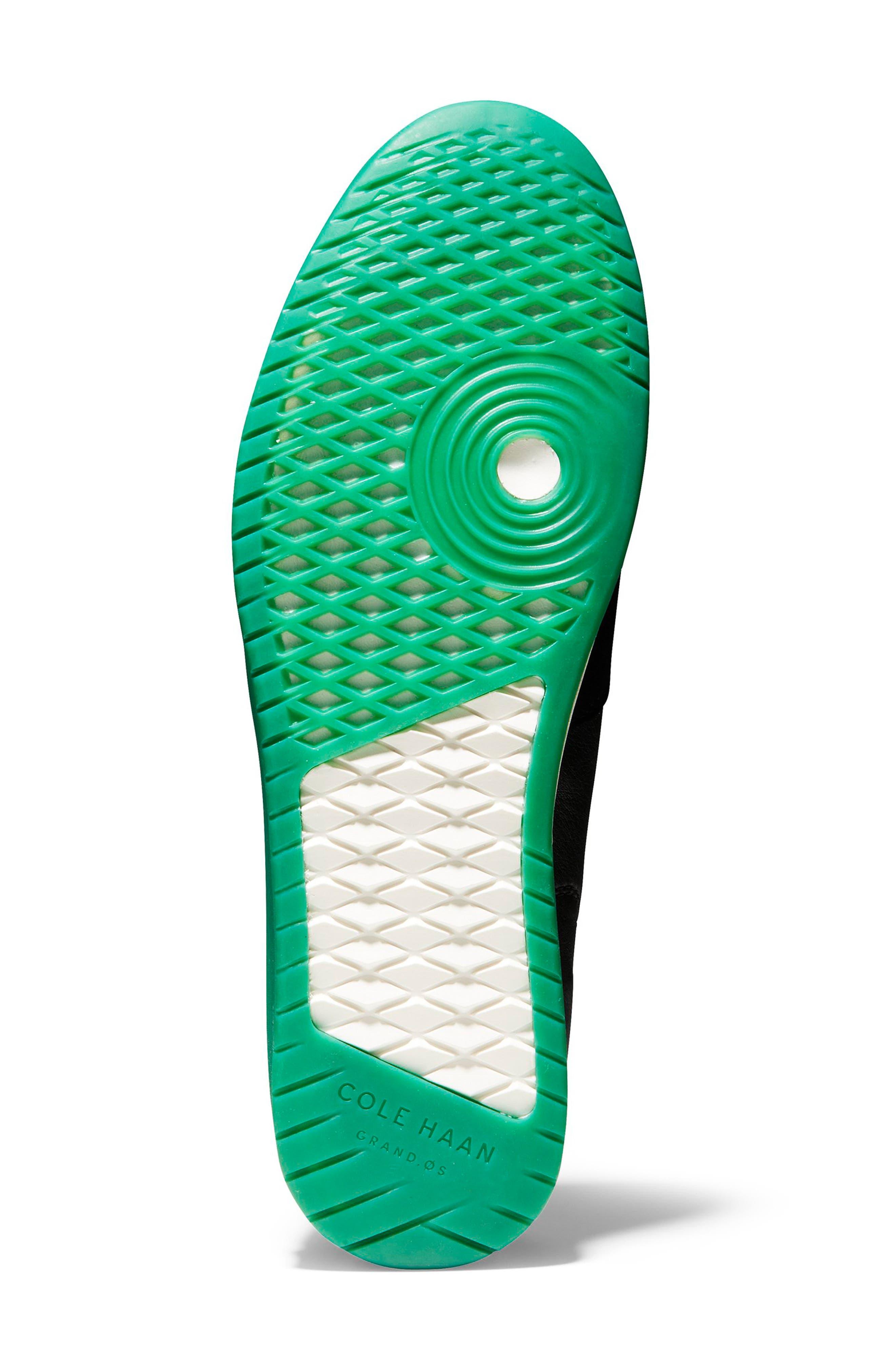 COLE HAAN, GrandPro Turf Sneaker, Alternate thumbnail 5, color, BLACK/ GREEN TRANSLUCENT