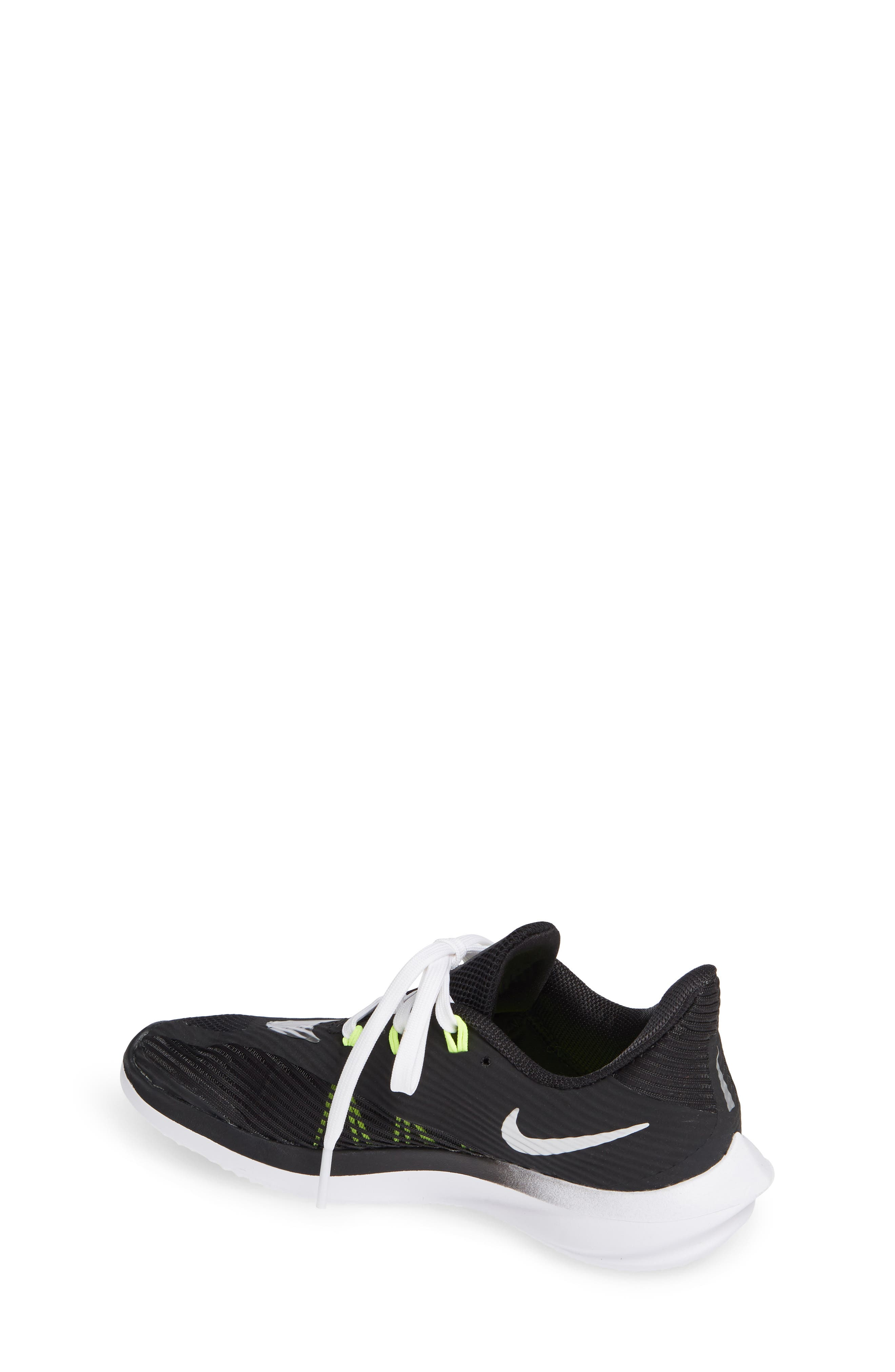 NIKE, Future Speed Running Shoe, Alternate thumbnail 2, color, BLACK/ CHROME-WHITE-VOLT