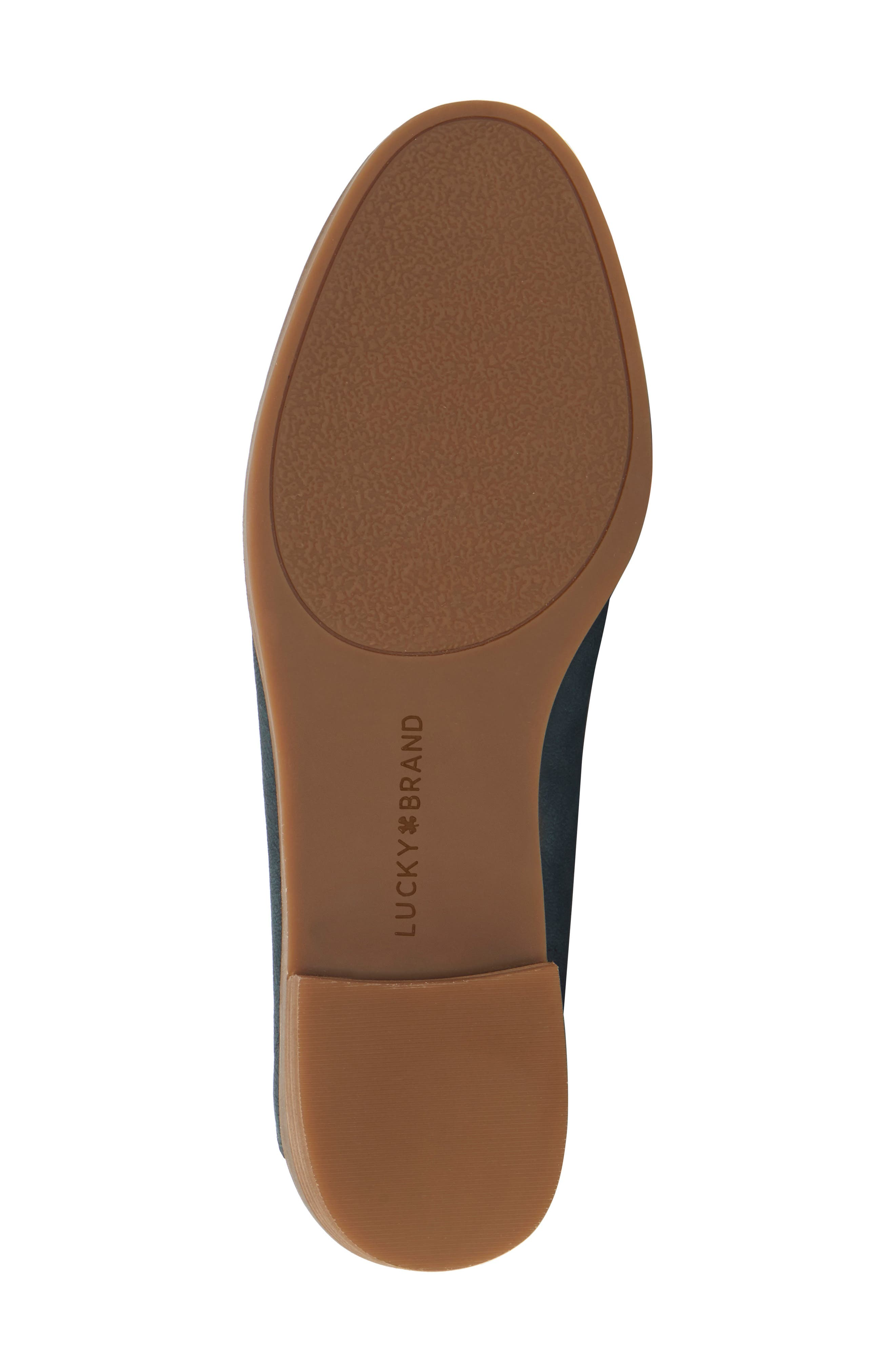 LUCKY BRAND, Cahill Flat, Alternate thumbnail 7, color, KELP LEATHER