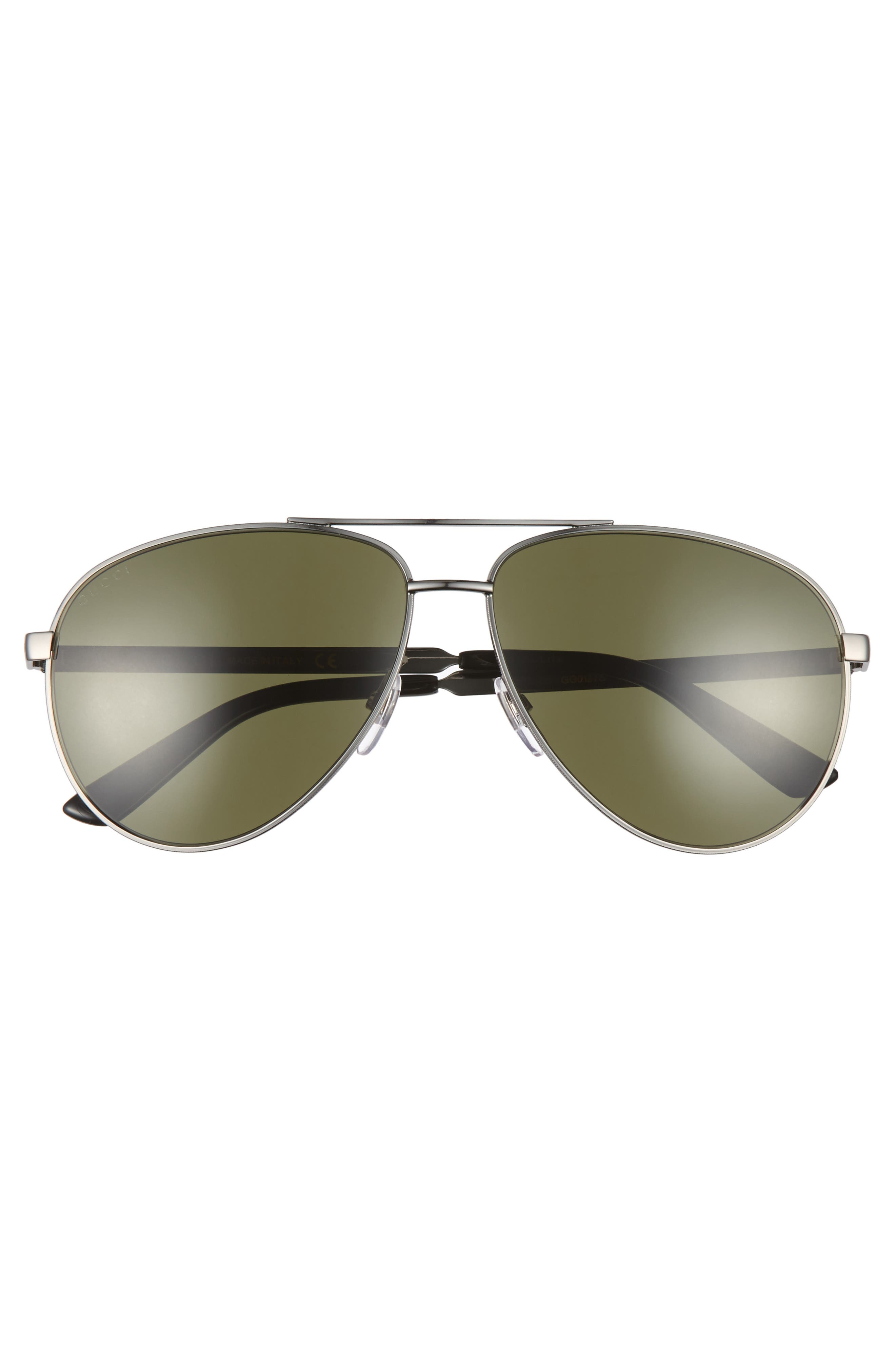 GUCCI, 61mm Aviator Sunglasses, Alternate thumbnail 2, color, 042