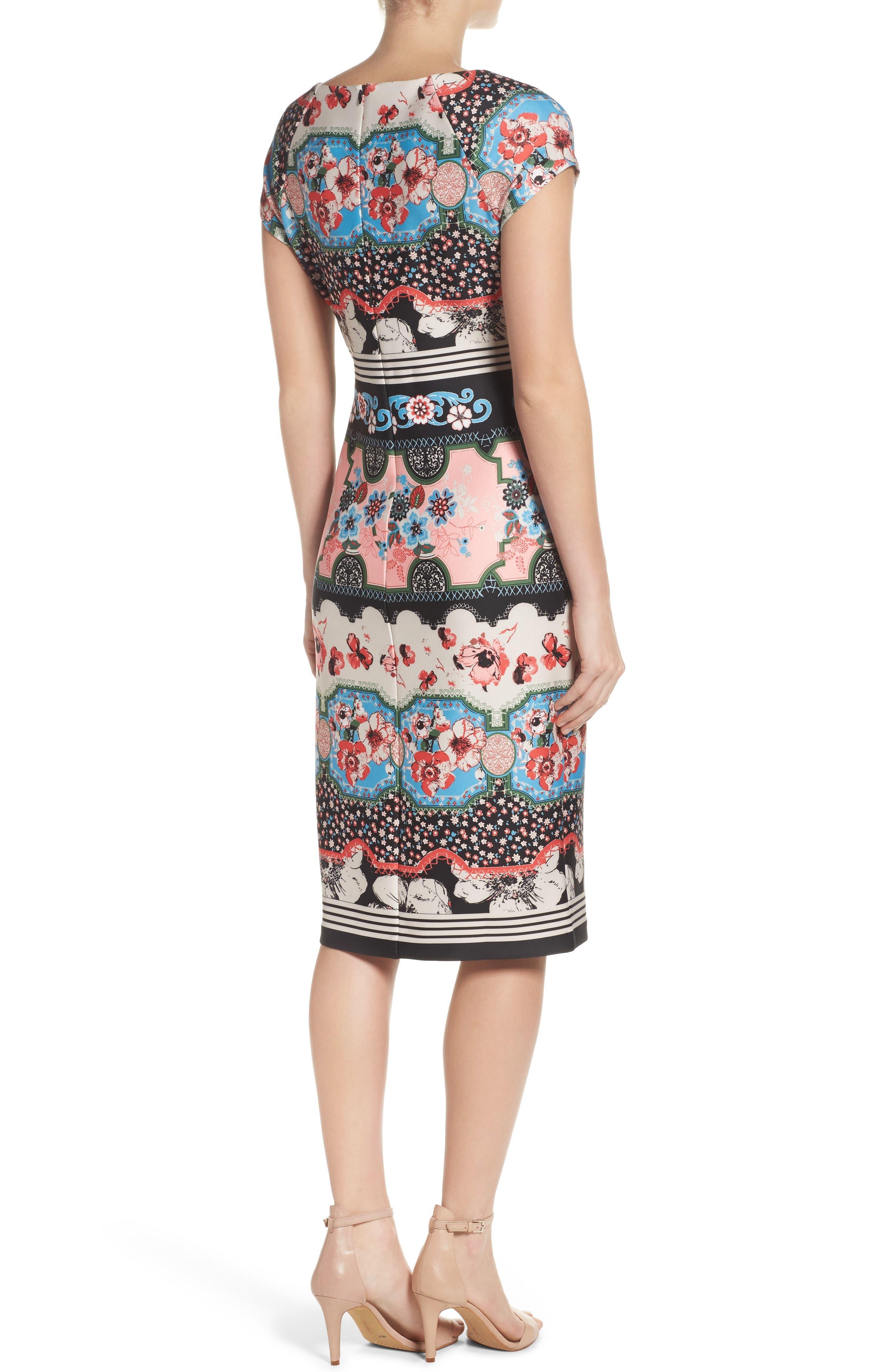 ECI, Scuba Sheath Dress, Alternate thumbnail 2, color, 688