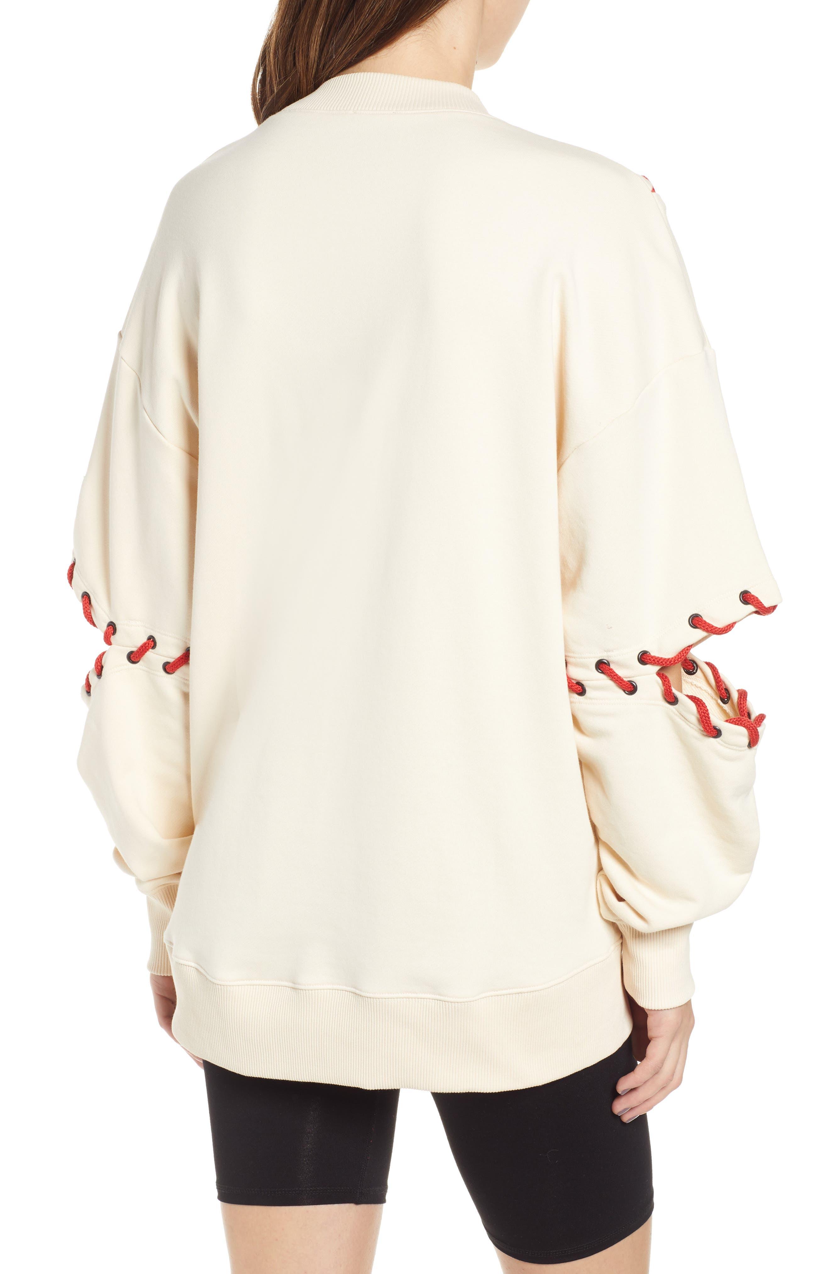 IVY PARK<SUP>®</SUP>, Baseball Stitch Sweatshirt, Alternate thumbnail 2, color, BRAZILIAN SAND