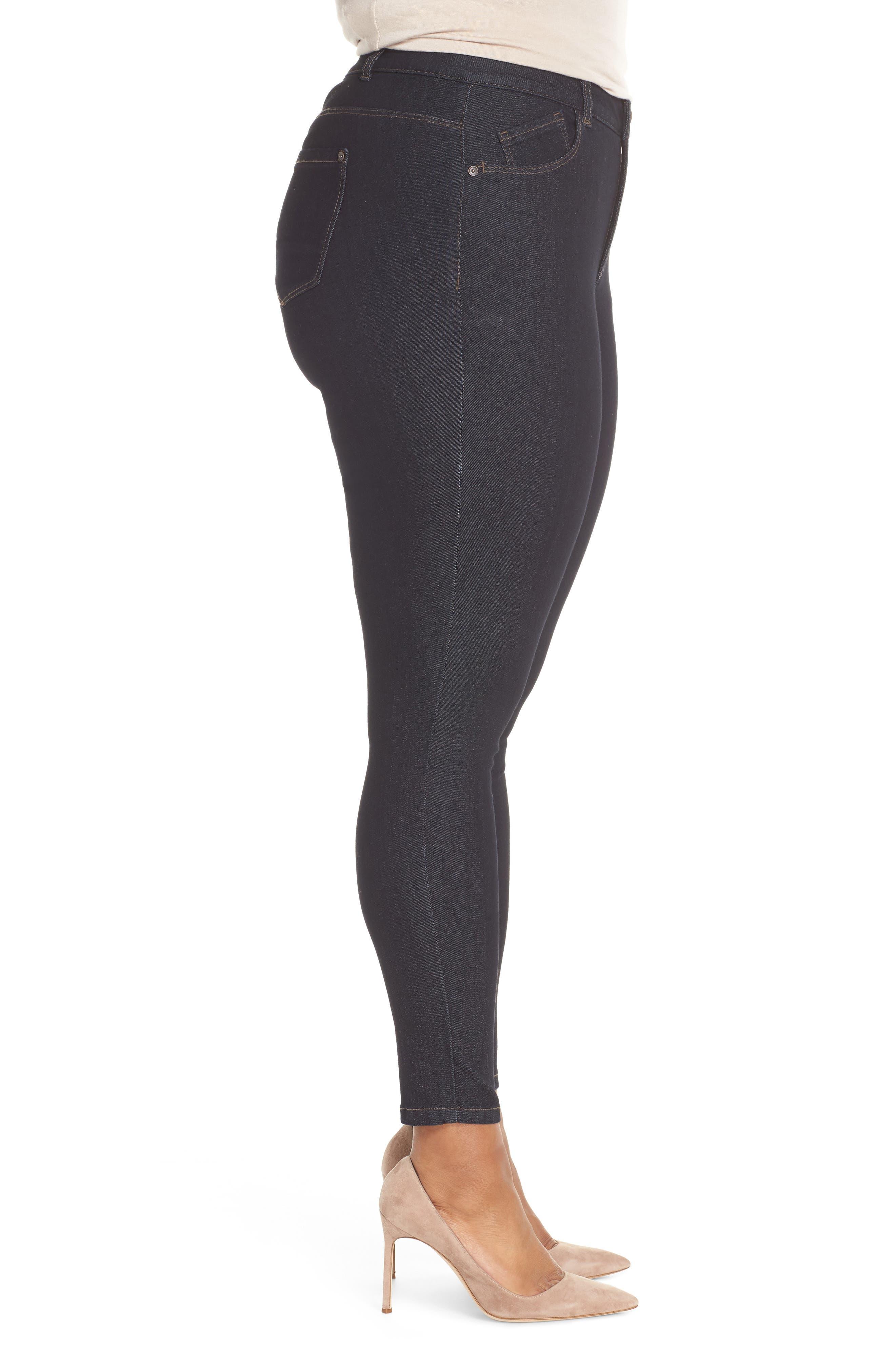 WIT & WISDOM, 30/11 Ab-solution High Waist Skinny Jeans, Alternate thumbnail 3, color, INDIGO