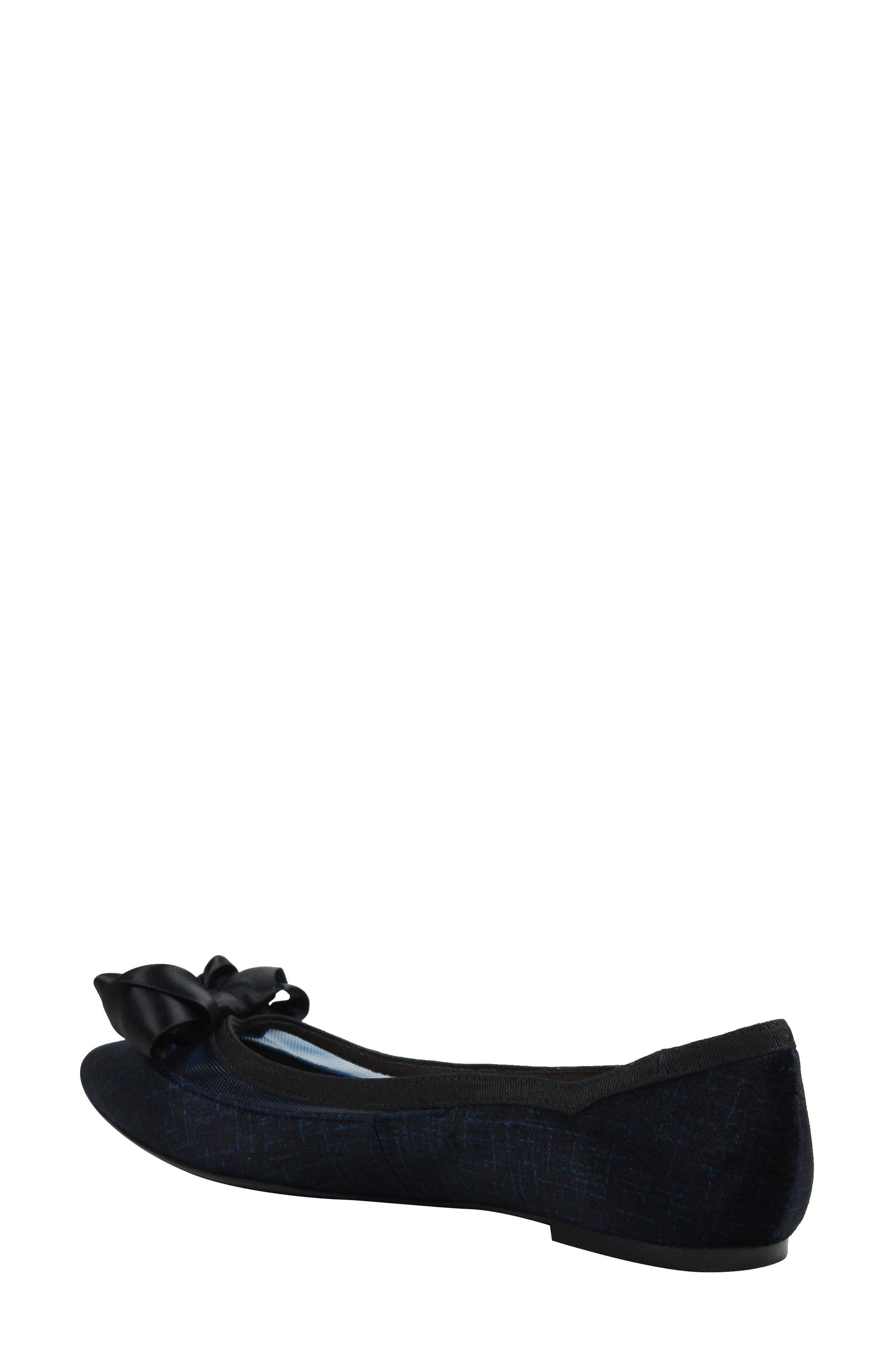 J. RENEÉ, Allitson Bow Flat, Alternate thumbnail 2, color, BLUE/ BLACK FABRIC