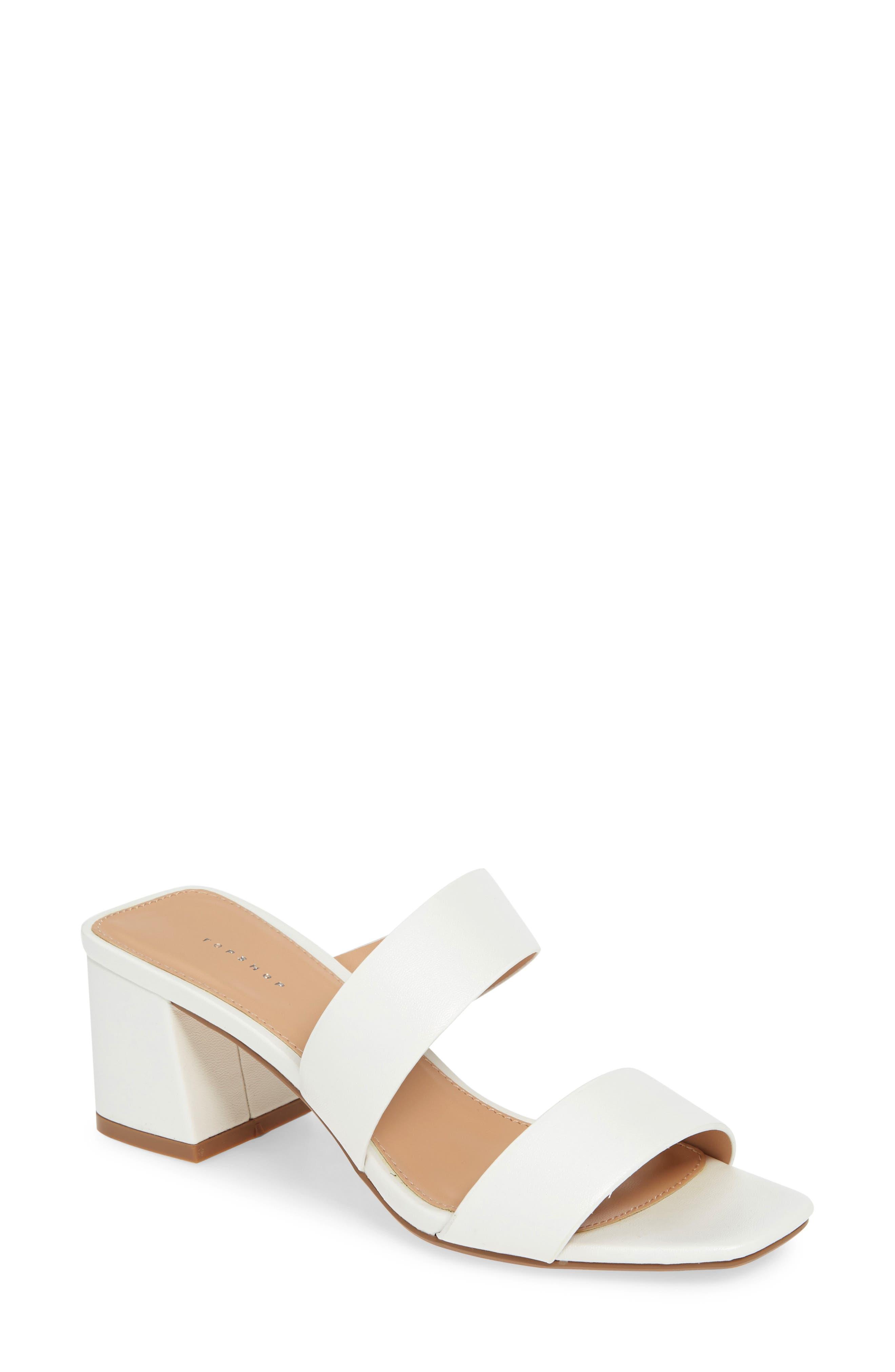 TOPSHOP Darla Slide Sandal, Main, color, WHITE