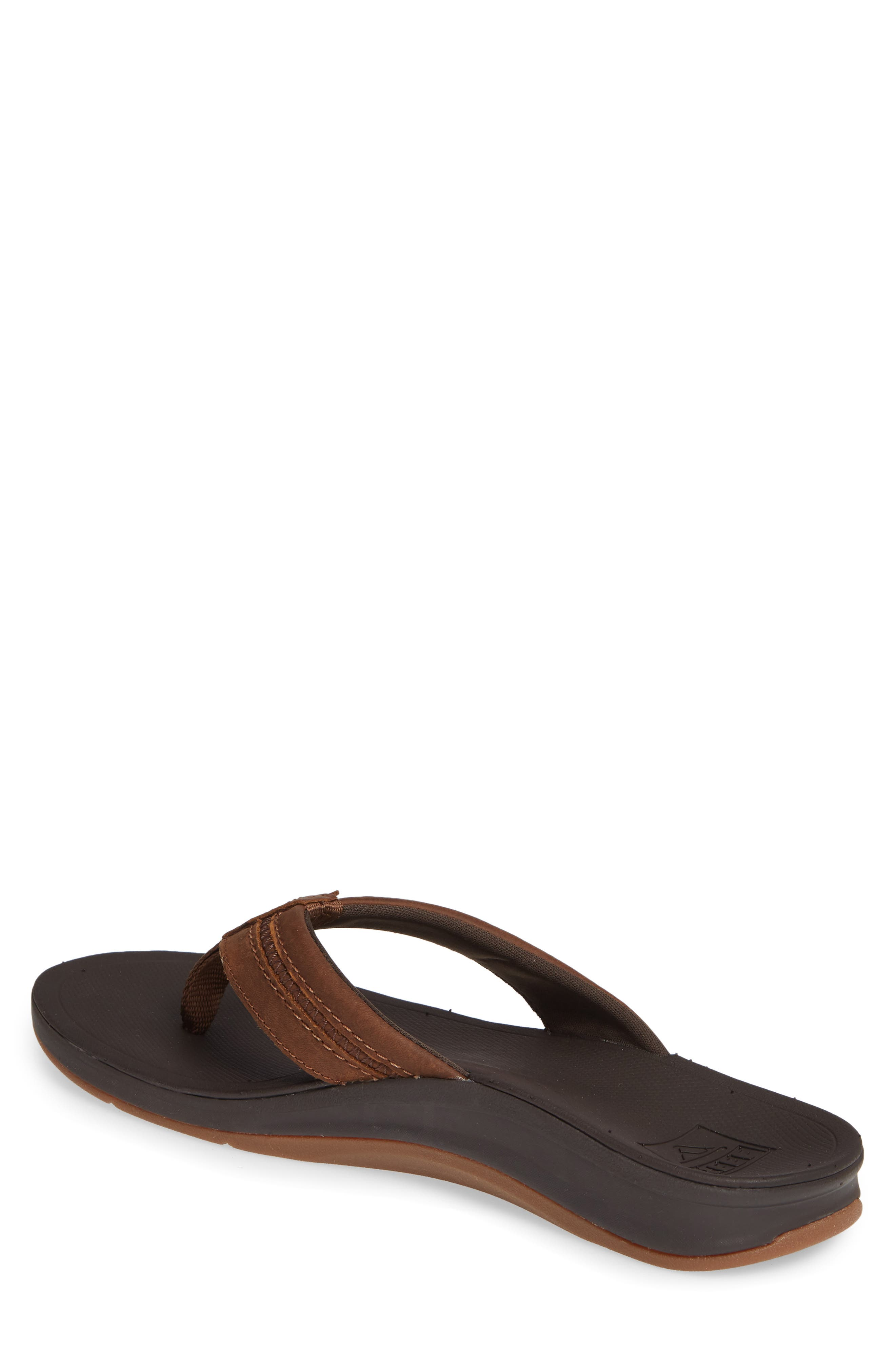 REEF, Ortho Bounce Coast Flip Flop, Alternate thumbnail 2, color, BROWN